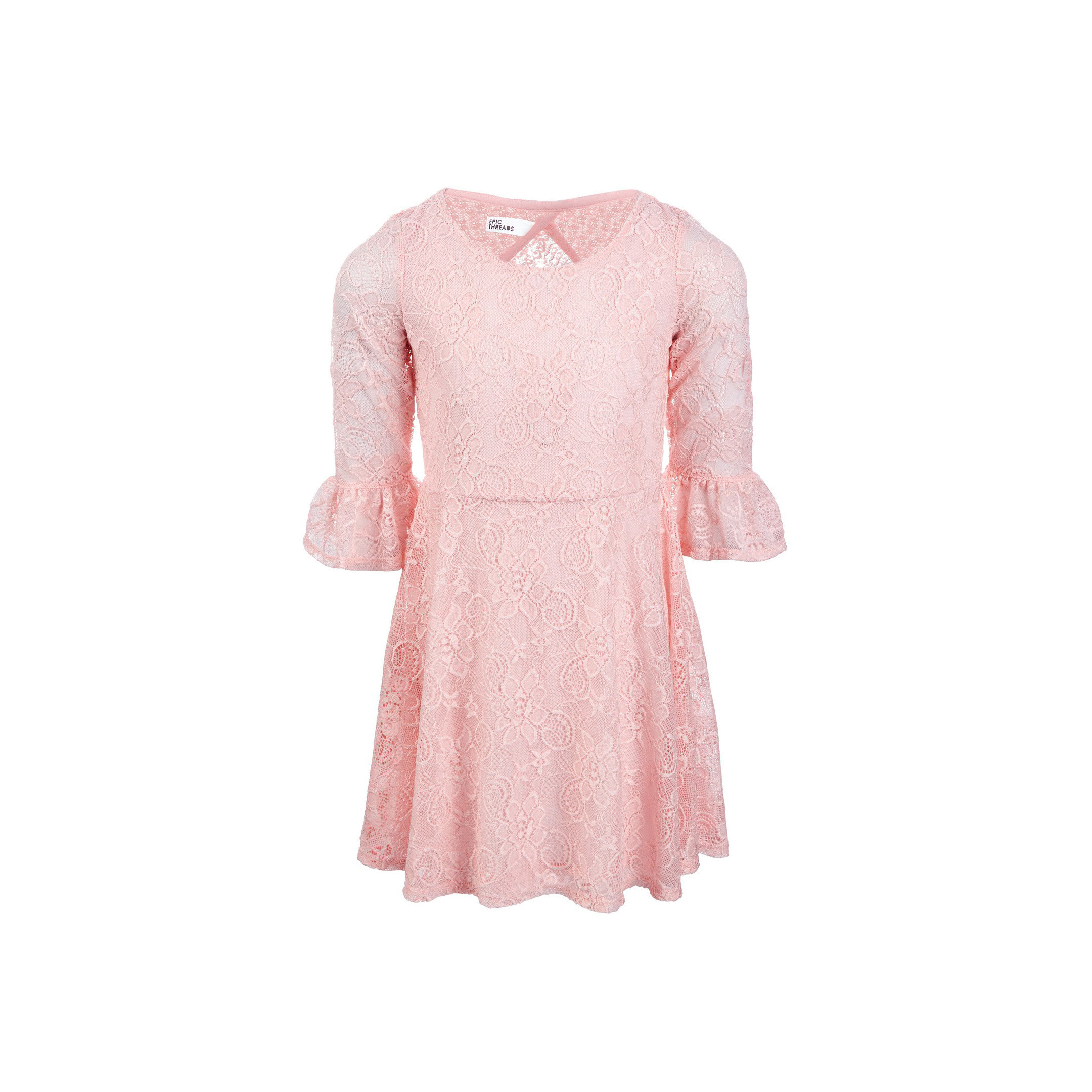 Epic Threads Lace Bell Sleeve Dress