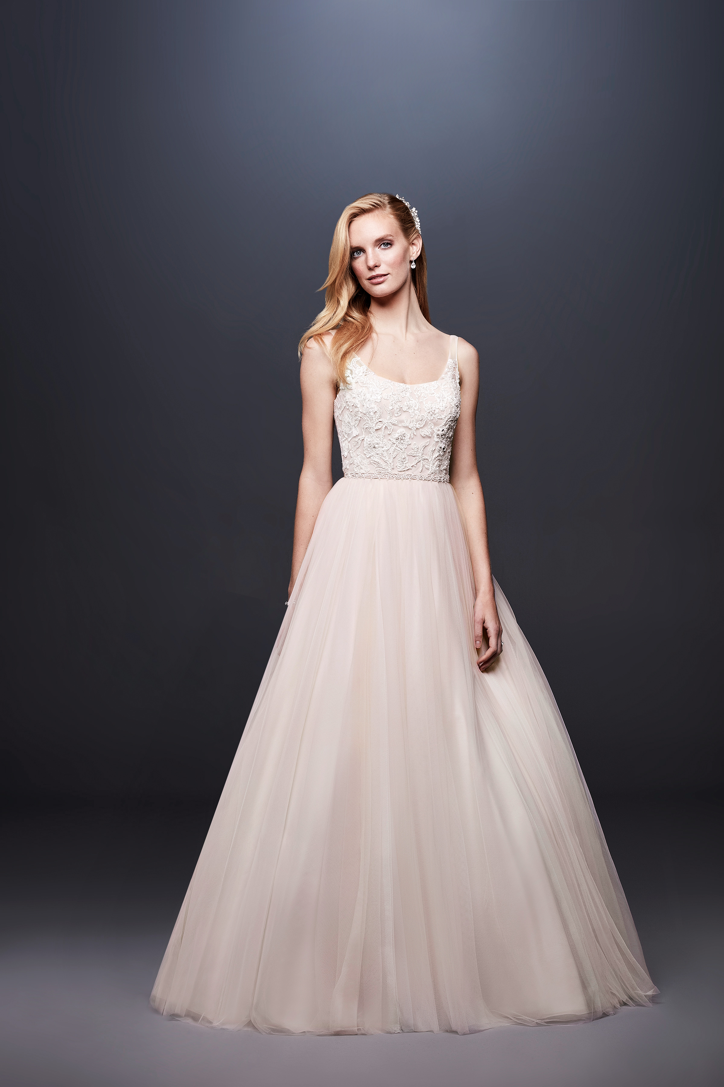 david bridal wedding dress spring 2019 sleeveless a-line tulle