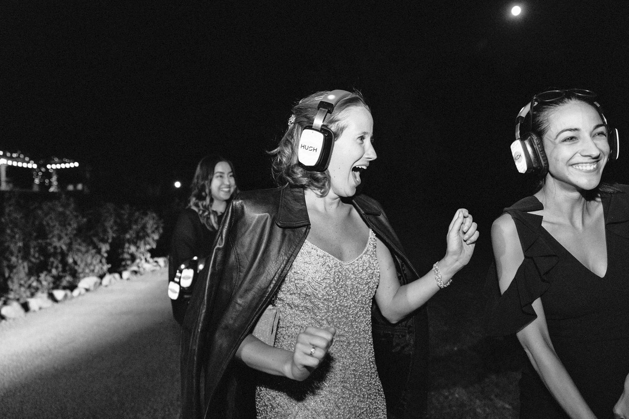 modern wedding silent disco headset