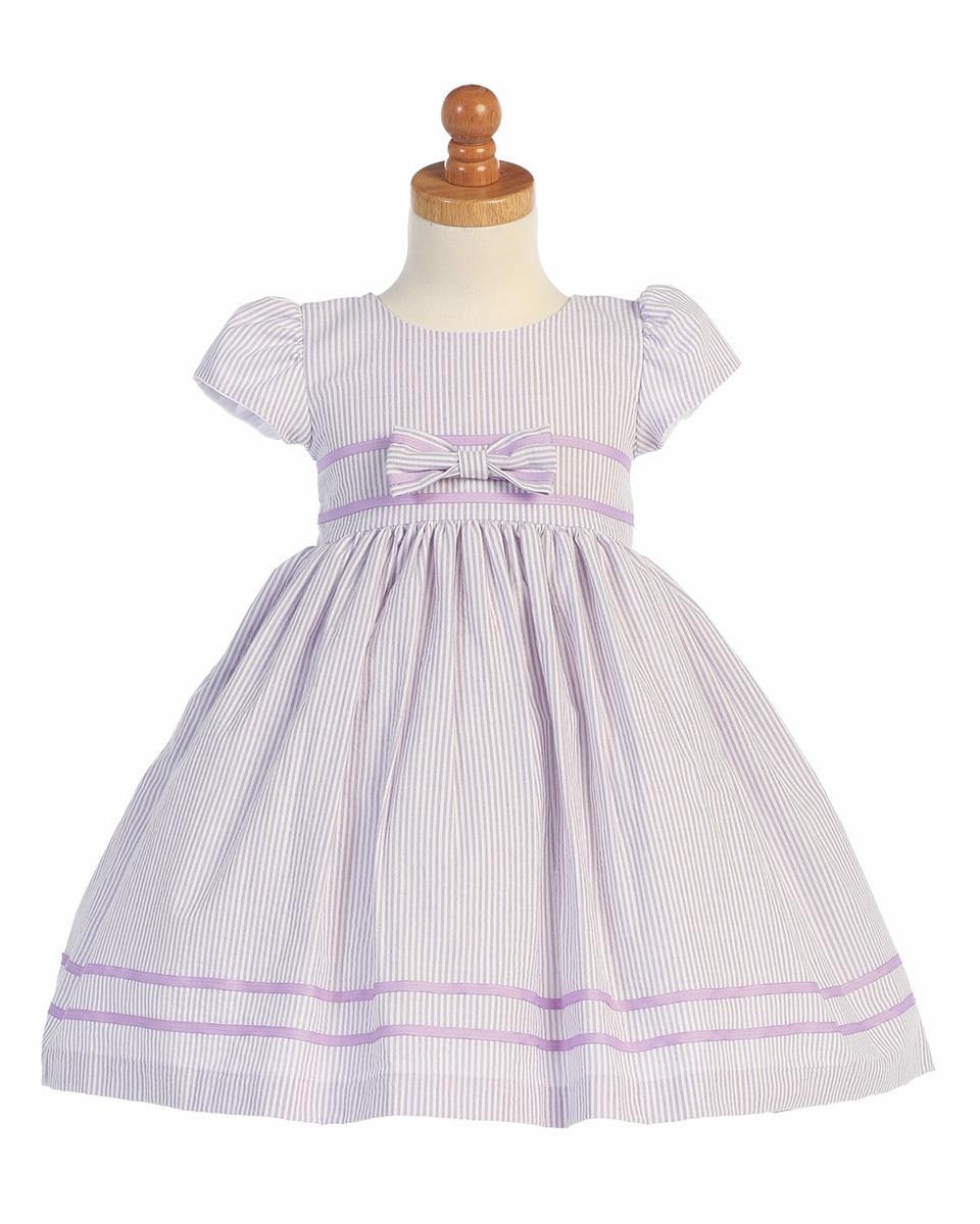 Pink Princess Cotton Seersucker Dress