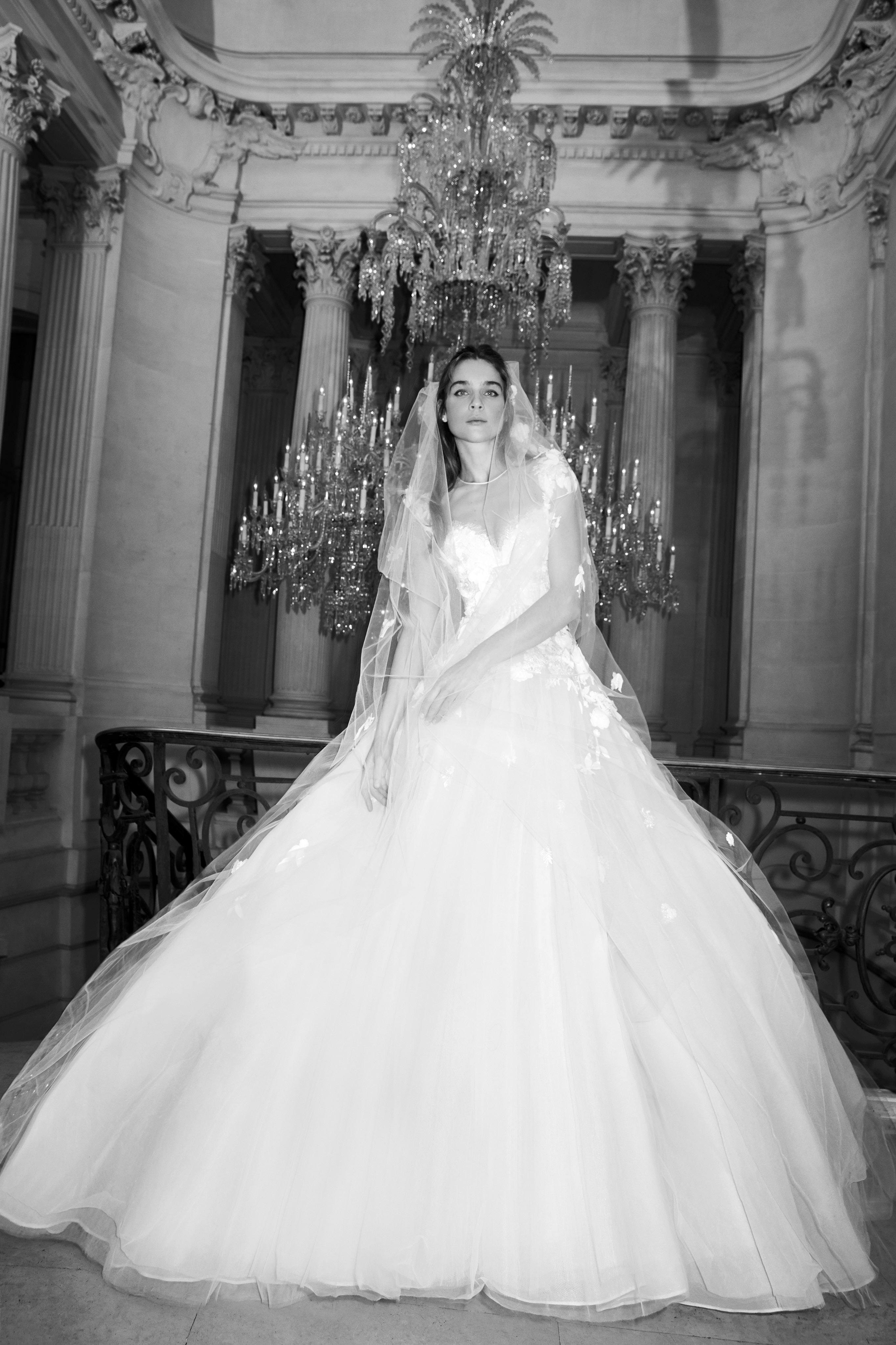 elie saab wedding dress spring 2019 ball gown illusion