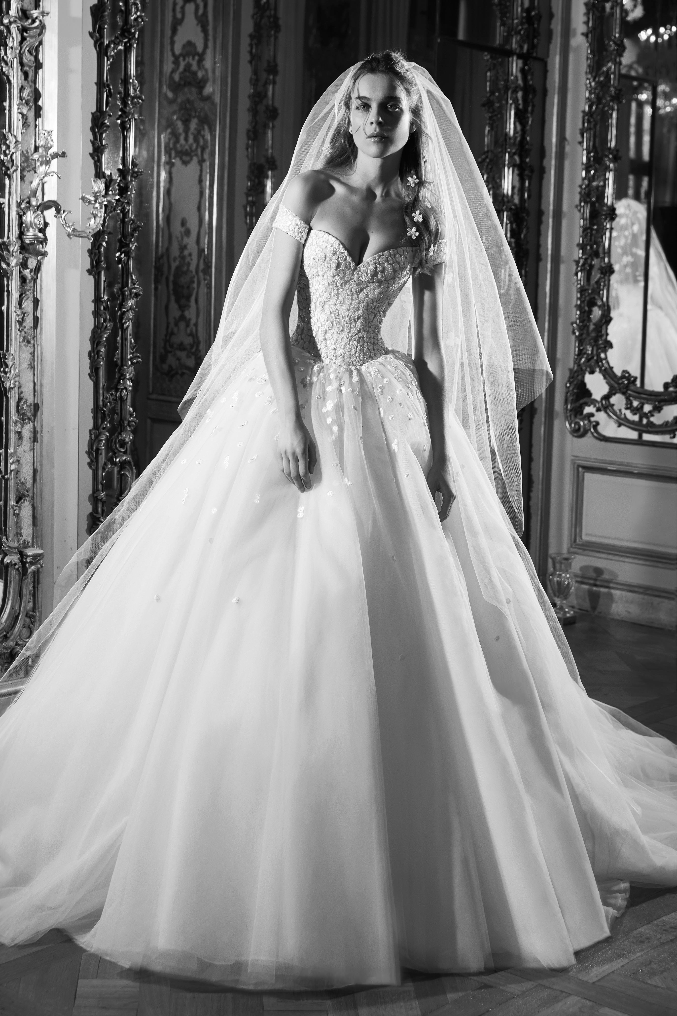 elie saab wedding dress spring 2019 ball gown sweetheart off the shoulder