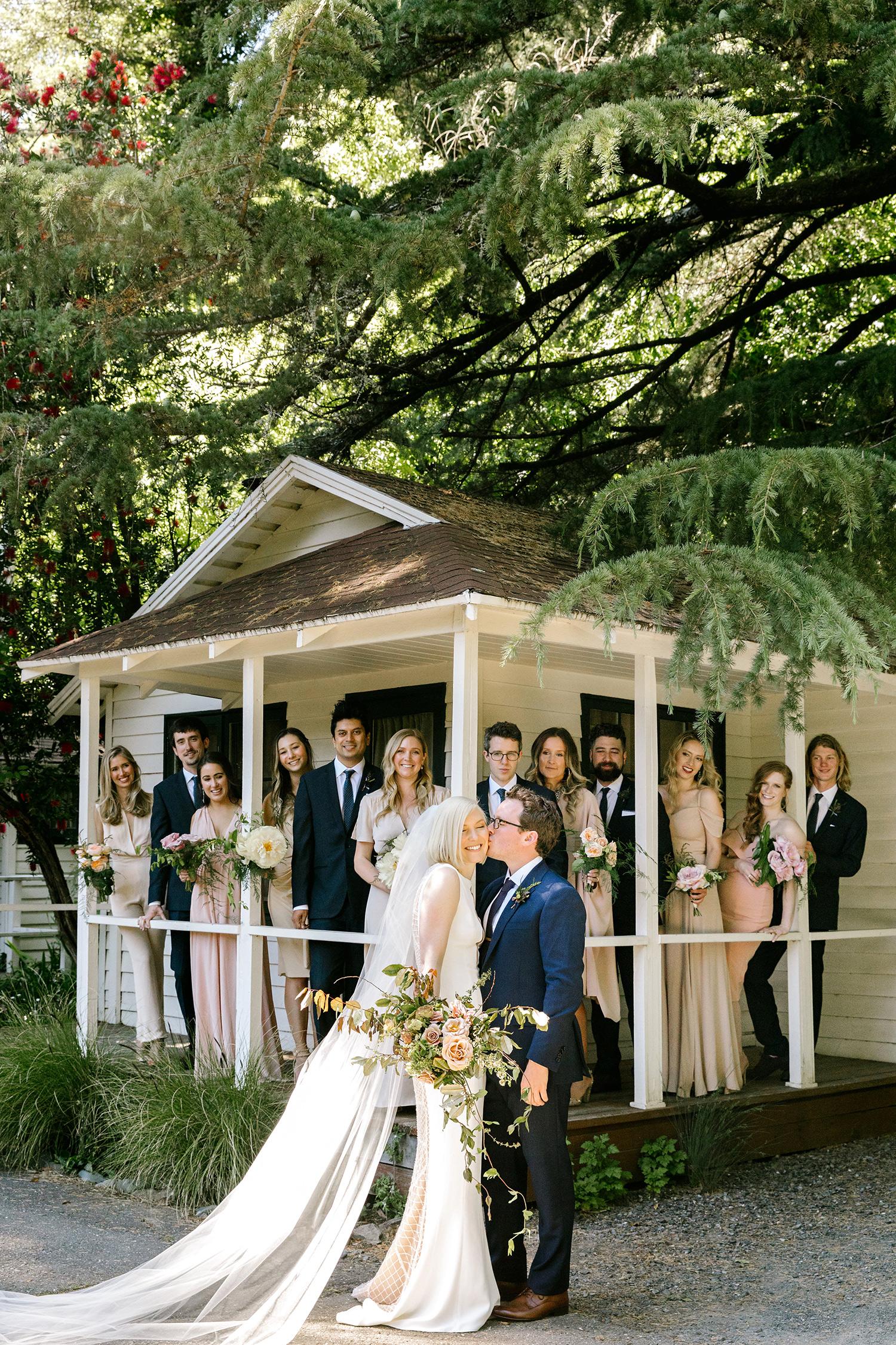 kendall jackson wedding couple and wedding party
