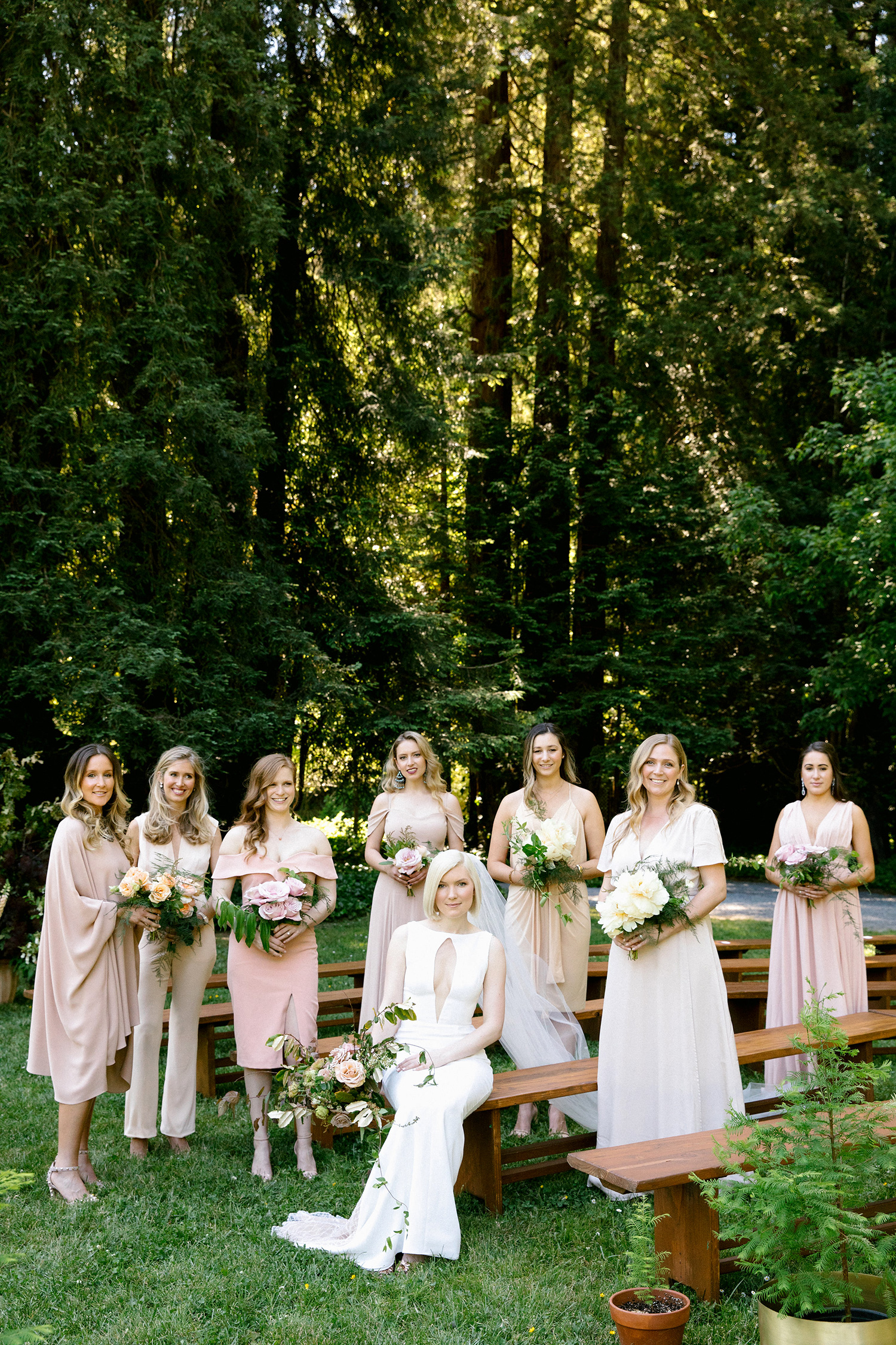 kendall jackson wedding bride and bridesmaids