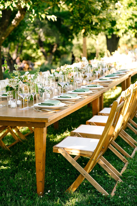 kendall jackson wedding banquet table