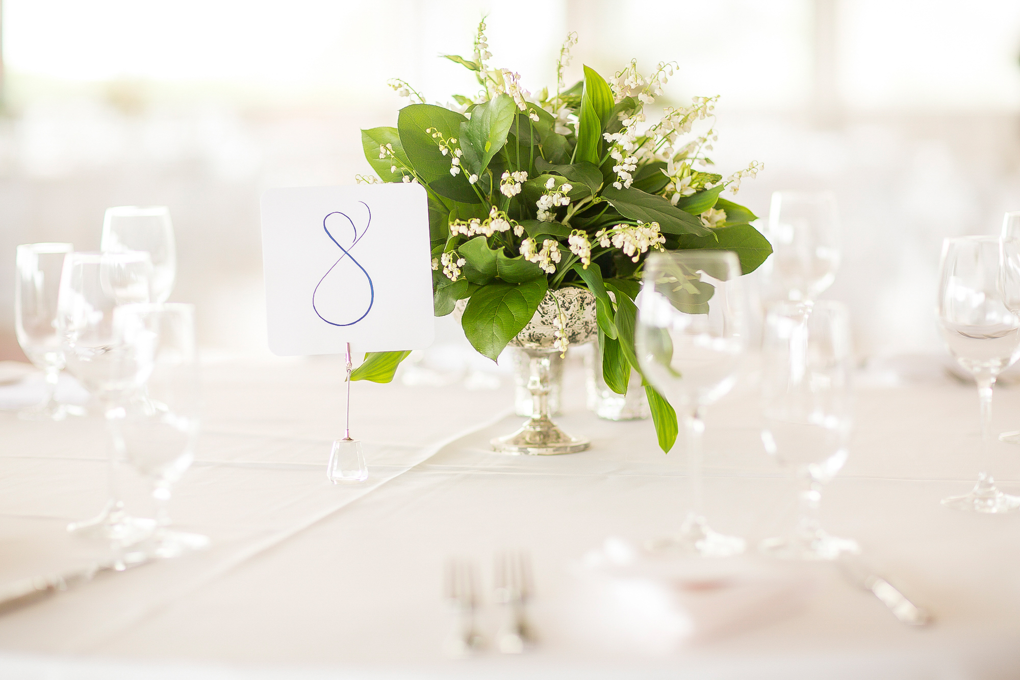 Lily of the Valley Centerpieces