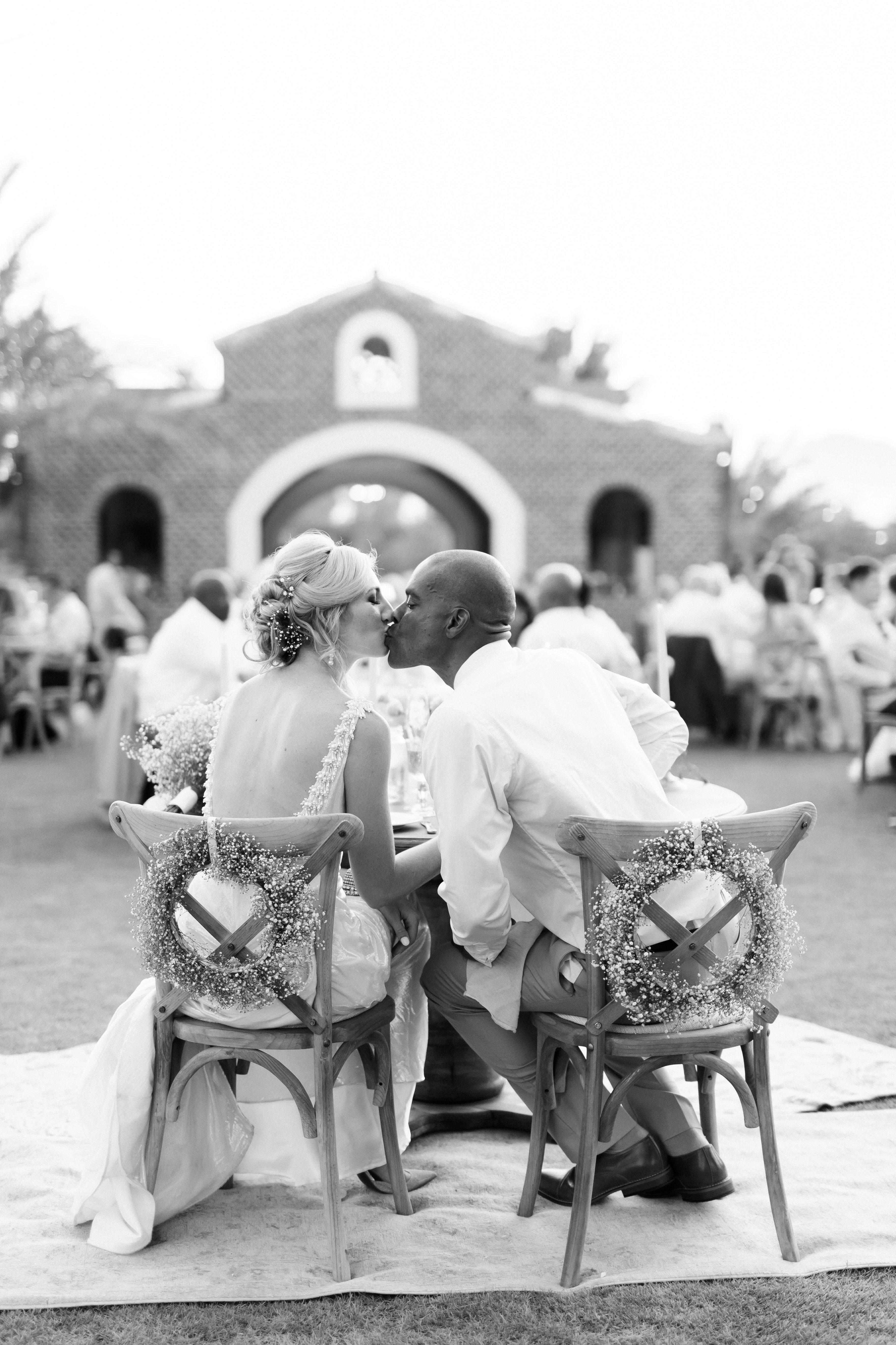 brittany craig wedding sweetheart kiss