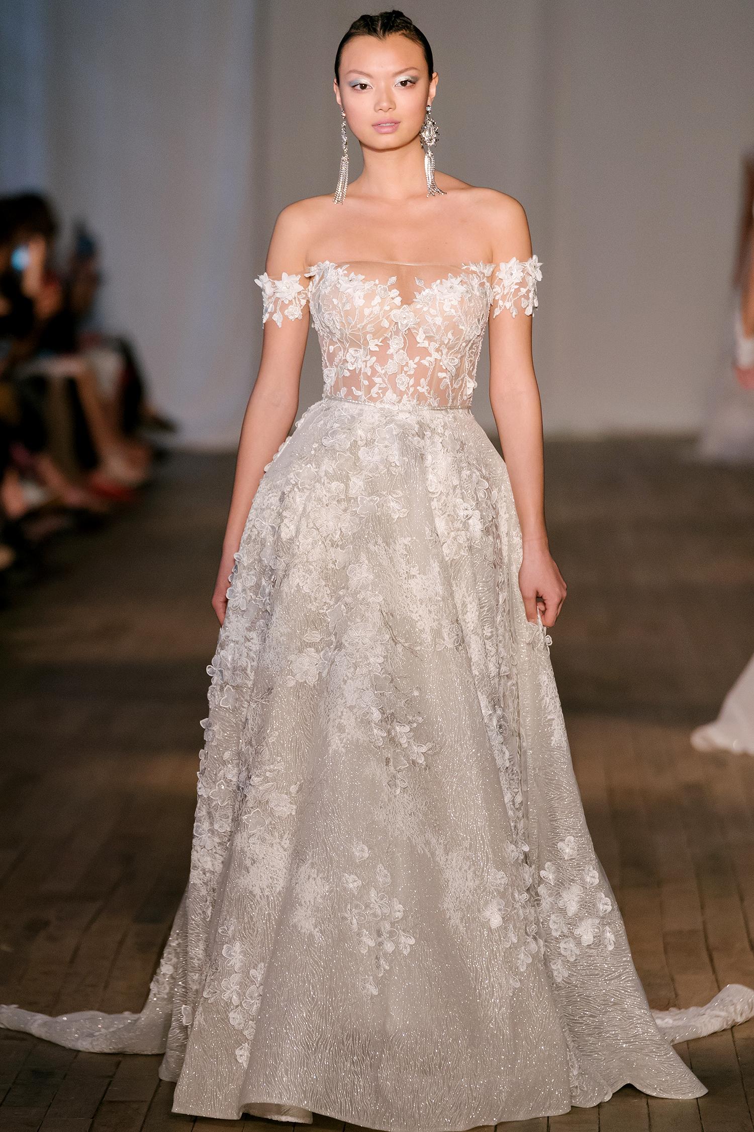 berta wedding dress spring 2019 embellished off-the-shoulder