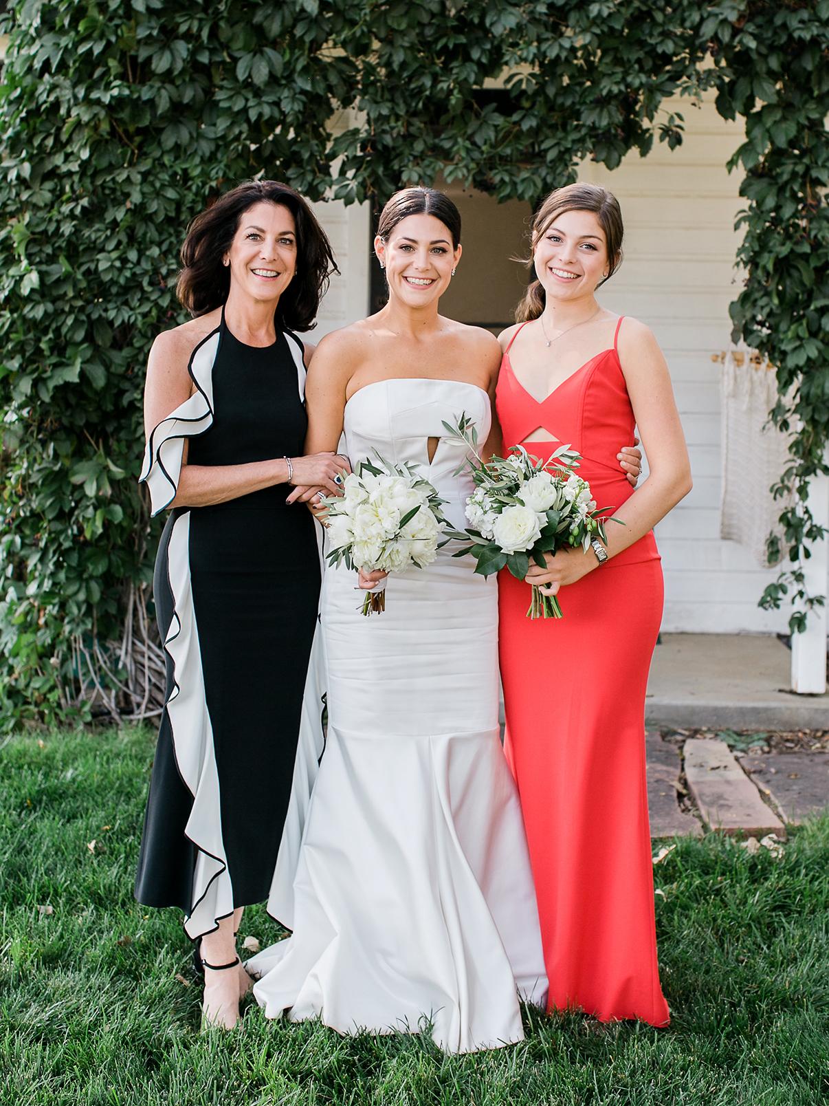 jamie jon wedding bride with family