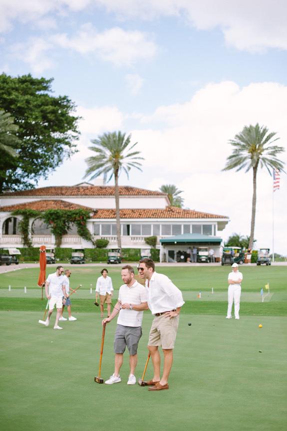 men playing croquet