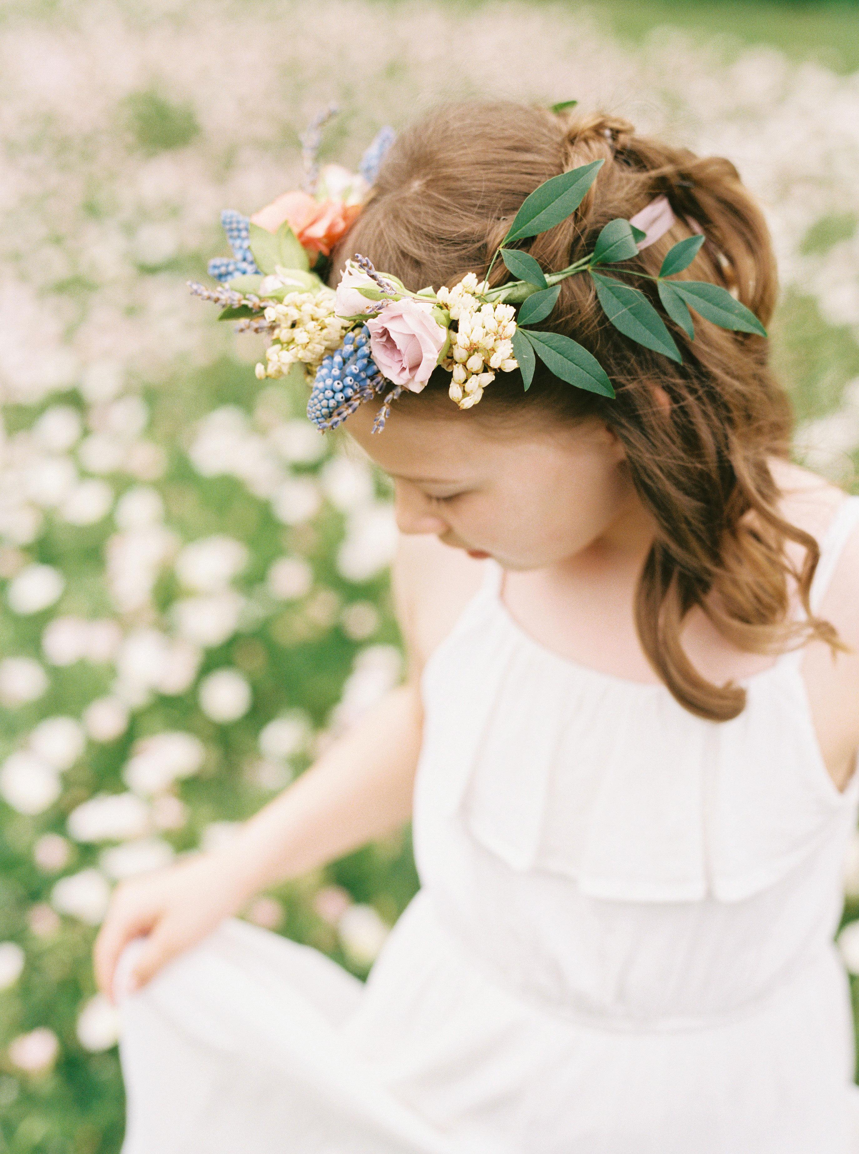 ashley adam wedding texas flower girl crown