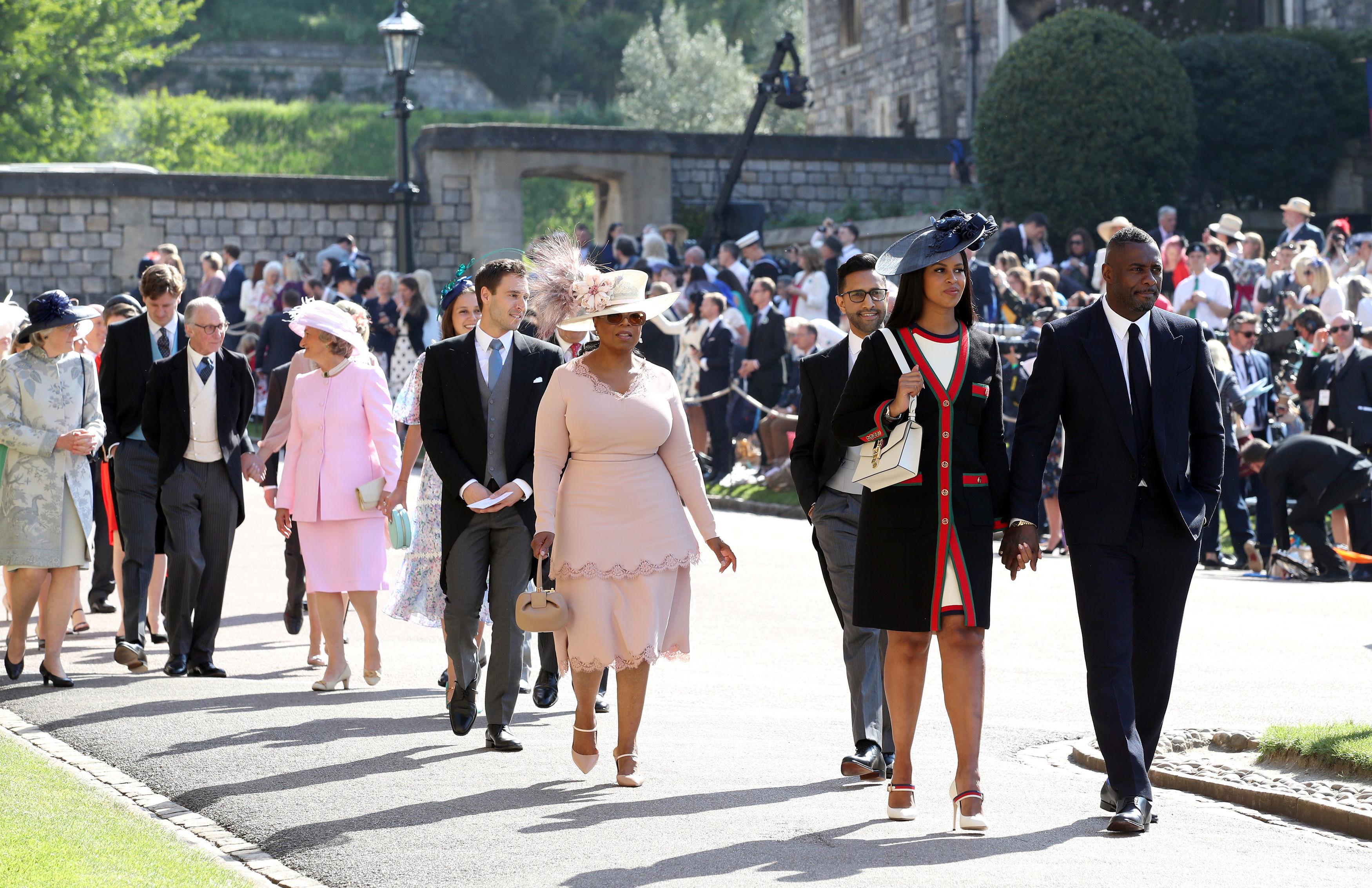 Oprah Winfrey and Idris Elba royal wedding 2018