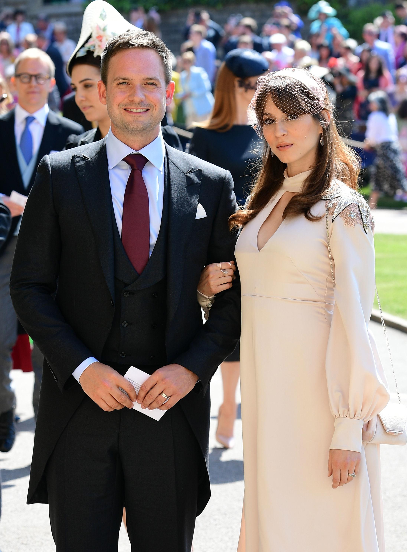 Patrick J Adams and Troian Bellisario Royal Wedding 2018