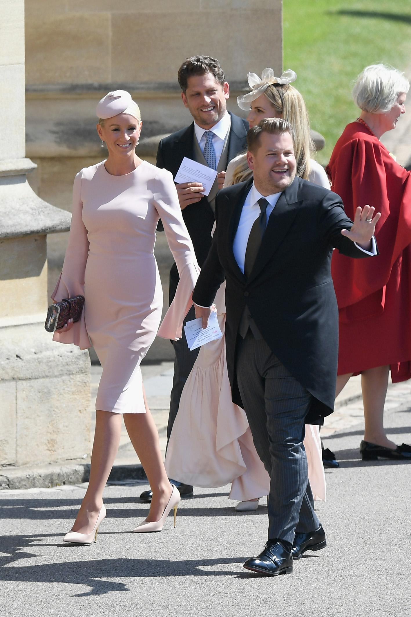 James Corden and Julia Carey Royal Wedding 2018
