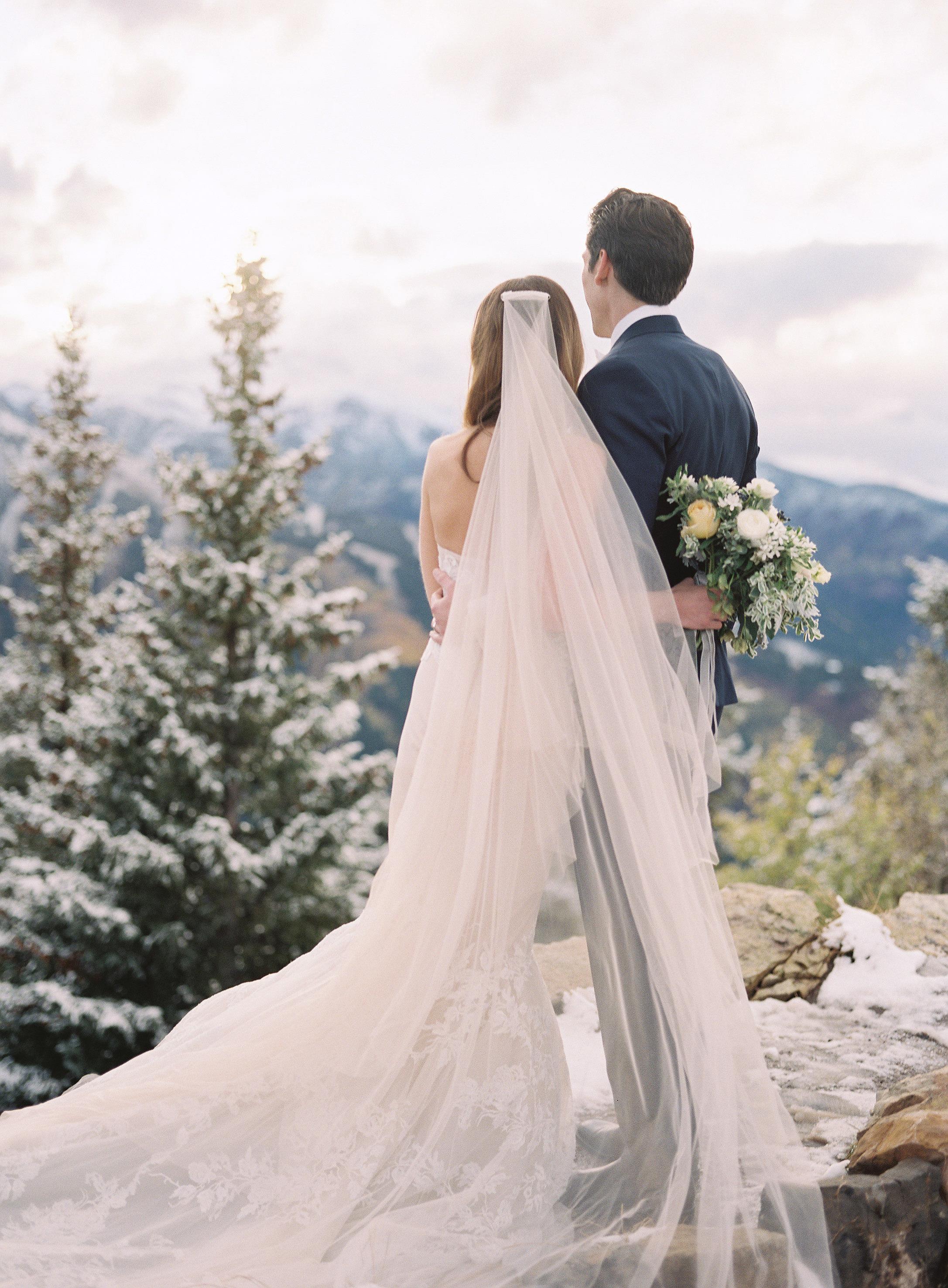 taylor cameron wedding couple enjoying view