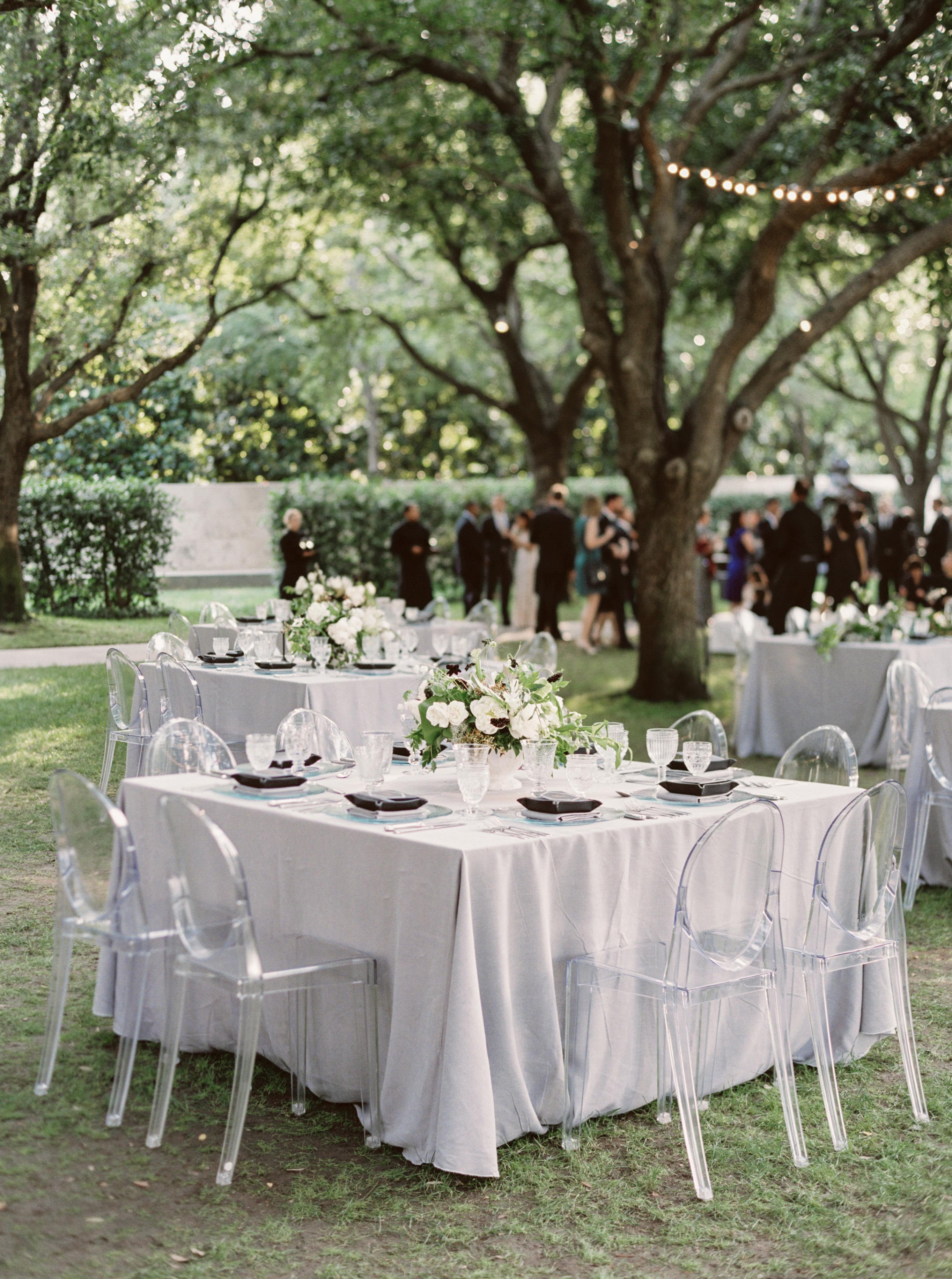 square reception table