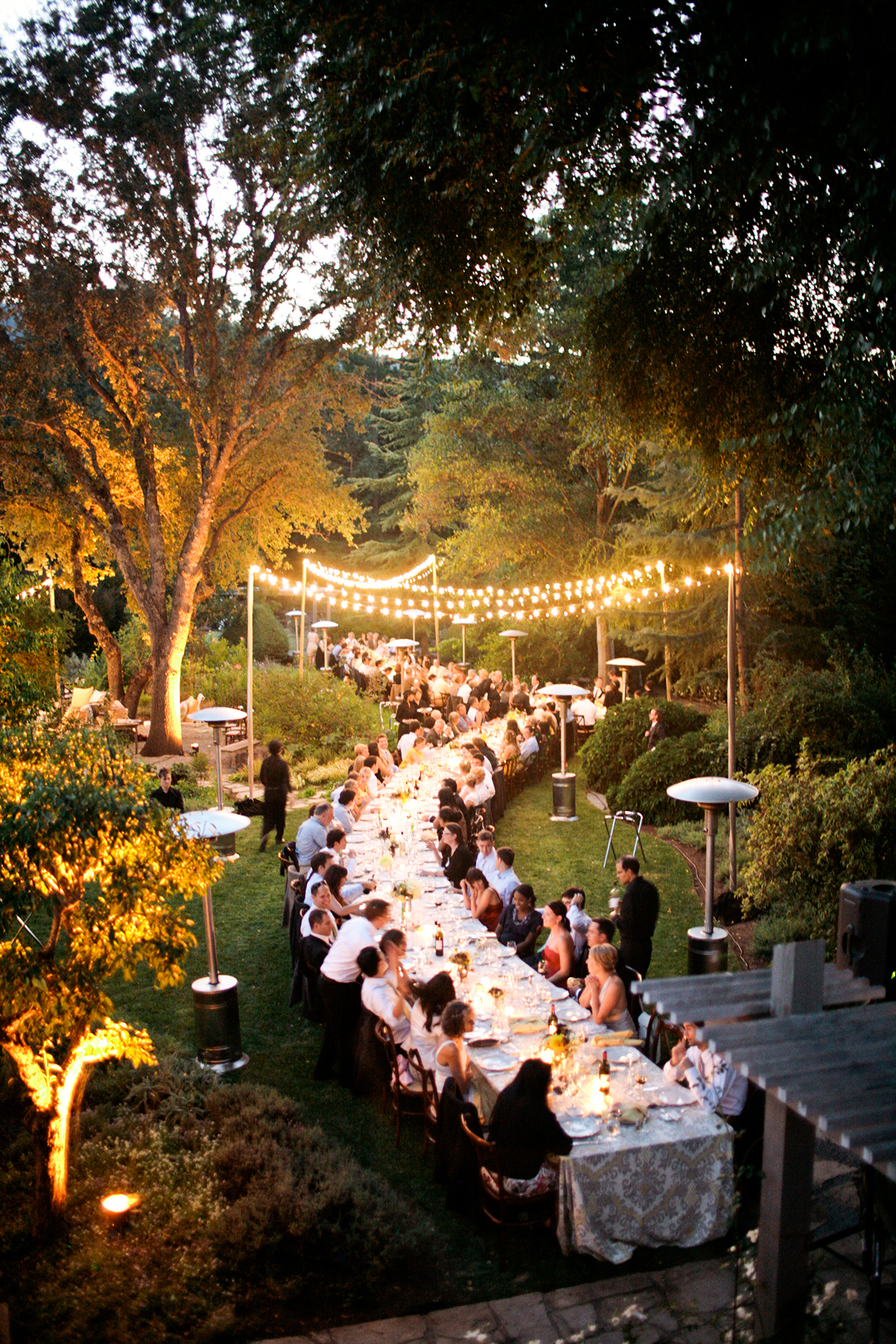 Serpentine Wedding Reception Table