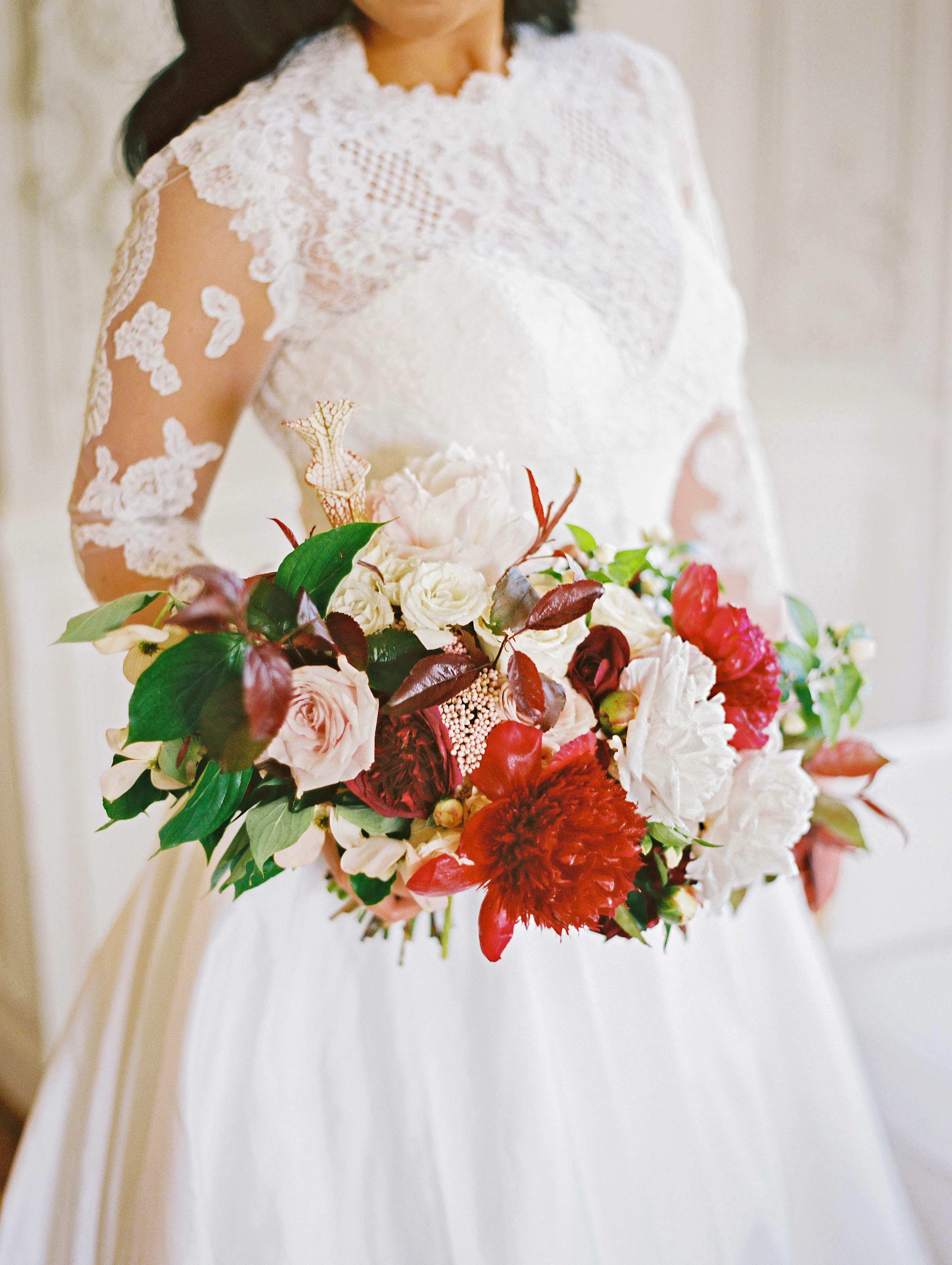 daniela emmanuel wedding maryland bouquet