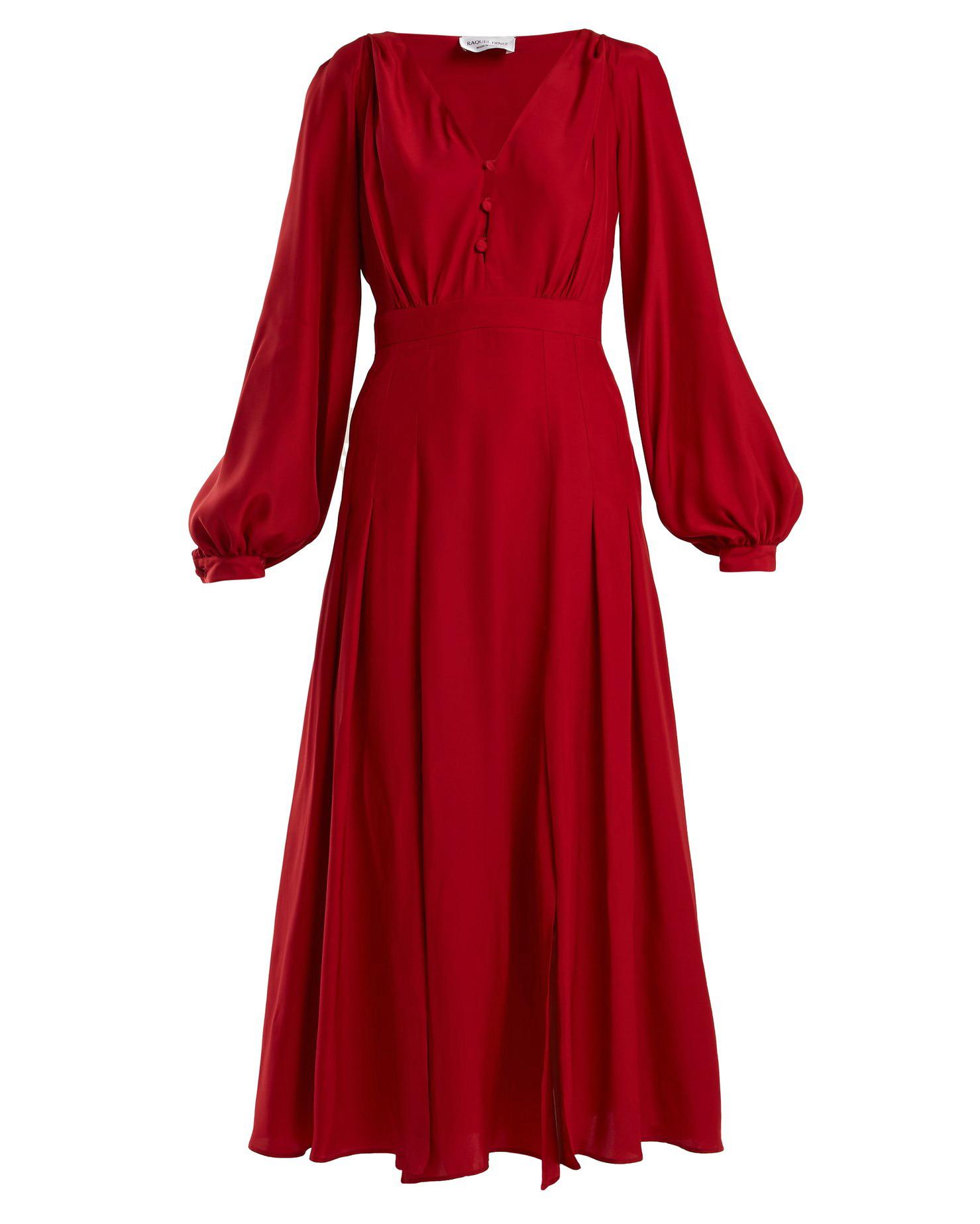 """Raquel Diniz """"Dalia"""" Button-Front Dress"""