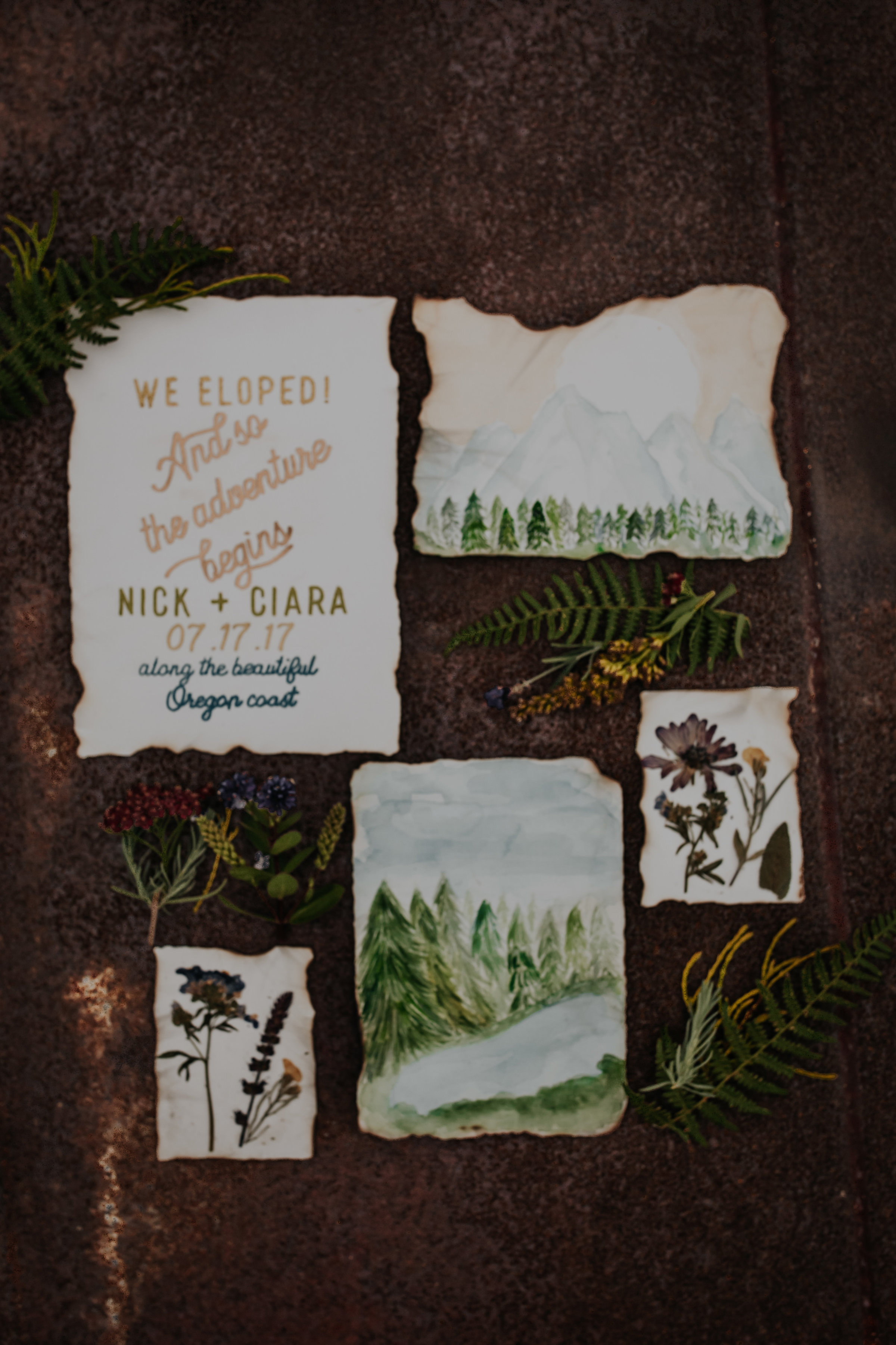 deckle edge invitations rustic bloom photography