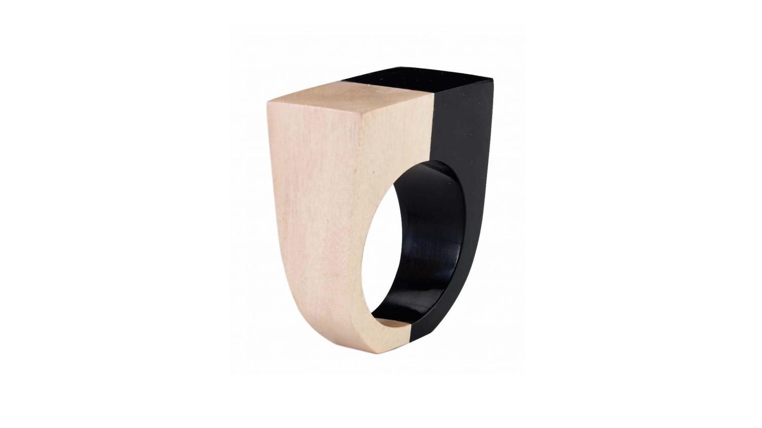 wood anniversary gift napkin ring