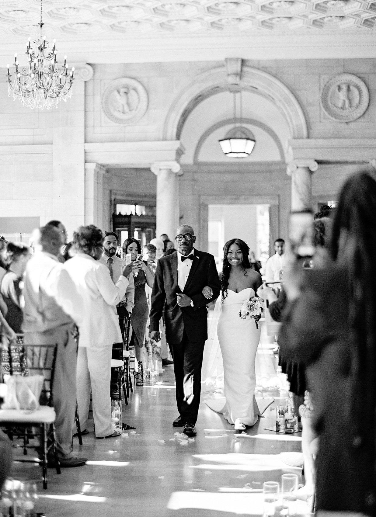shanice & stephen wedding walk down aisle