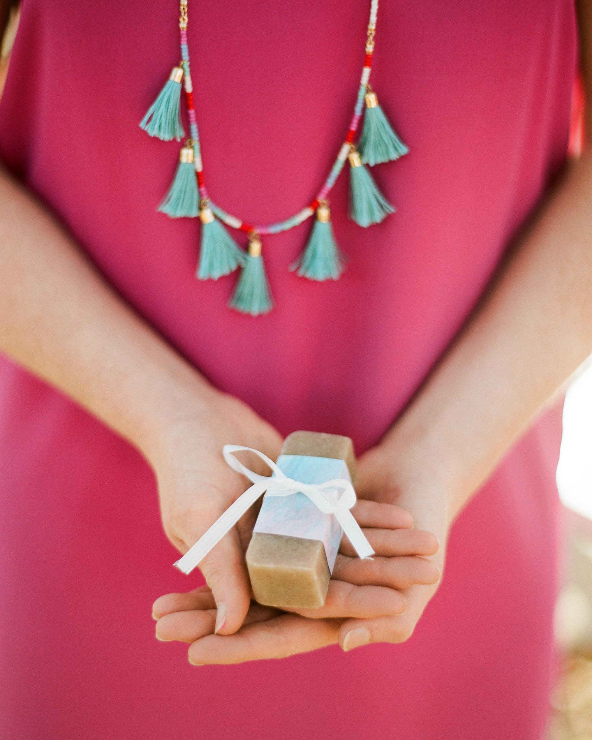 bridal shower favors rectangle soap