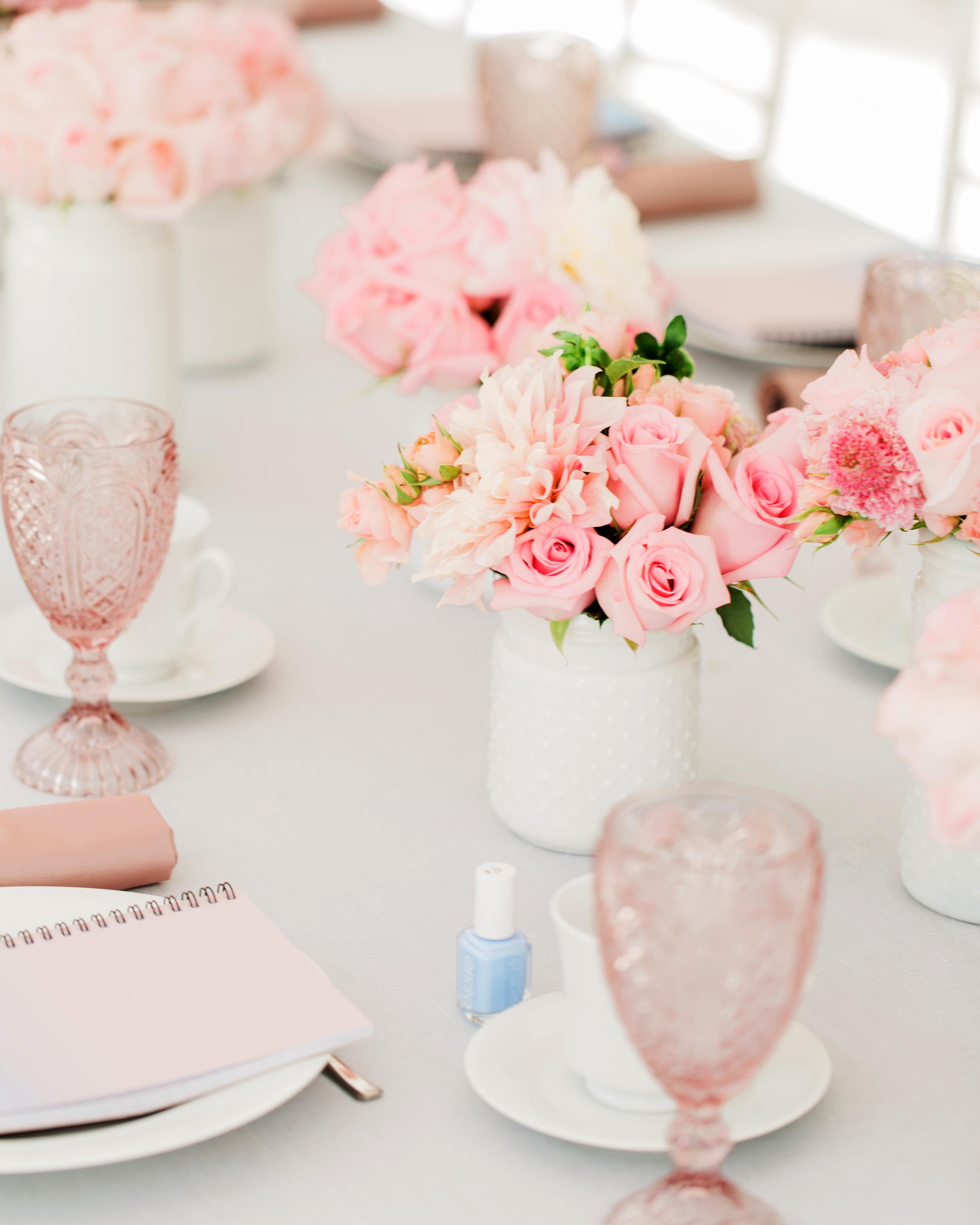bridal shower favors nail polish notebooks