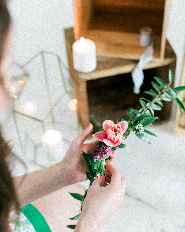 bridal shower favors floral crowns