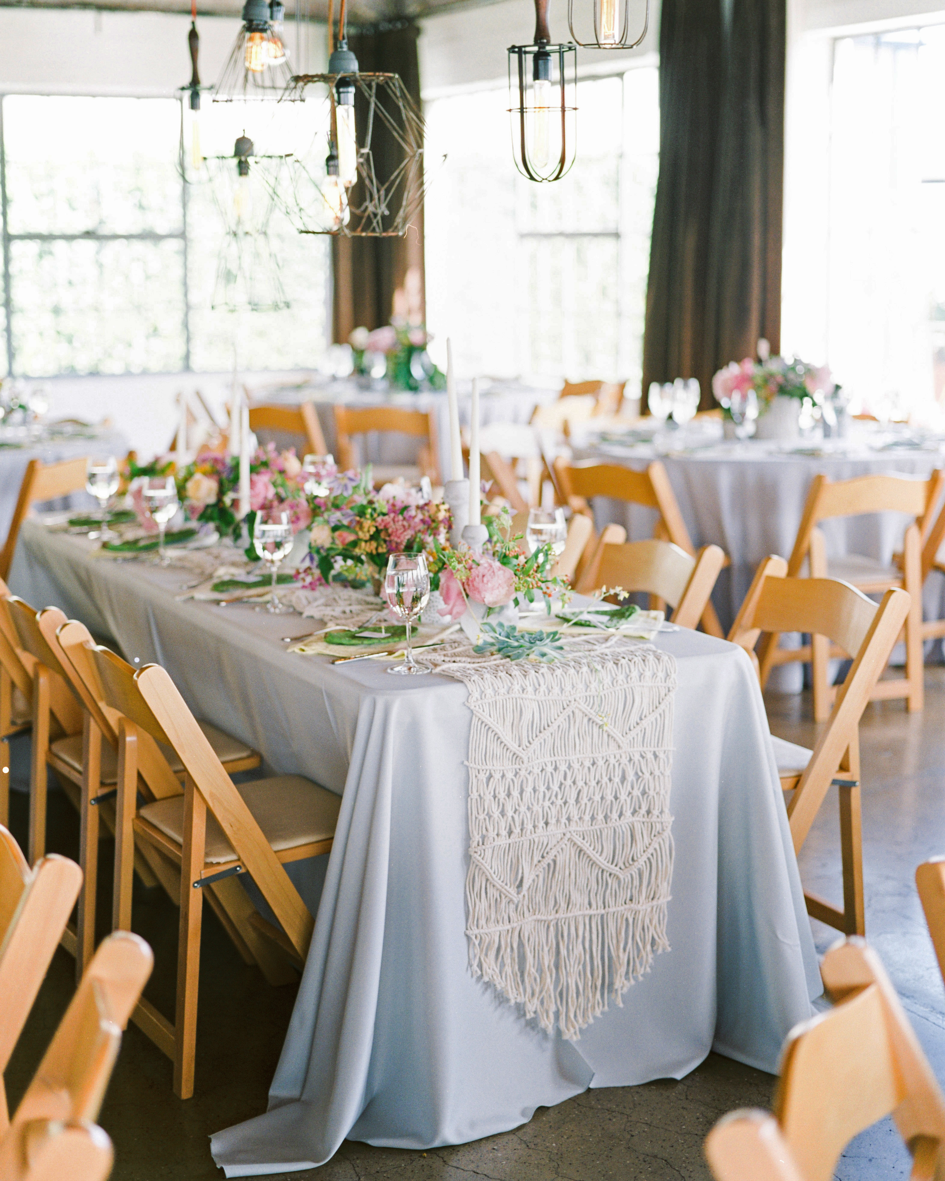 statement linens reception tables