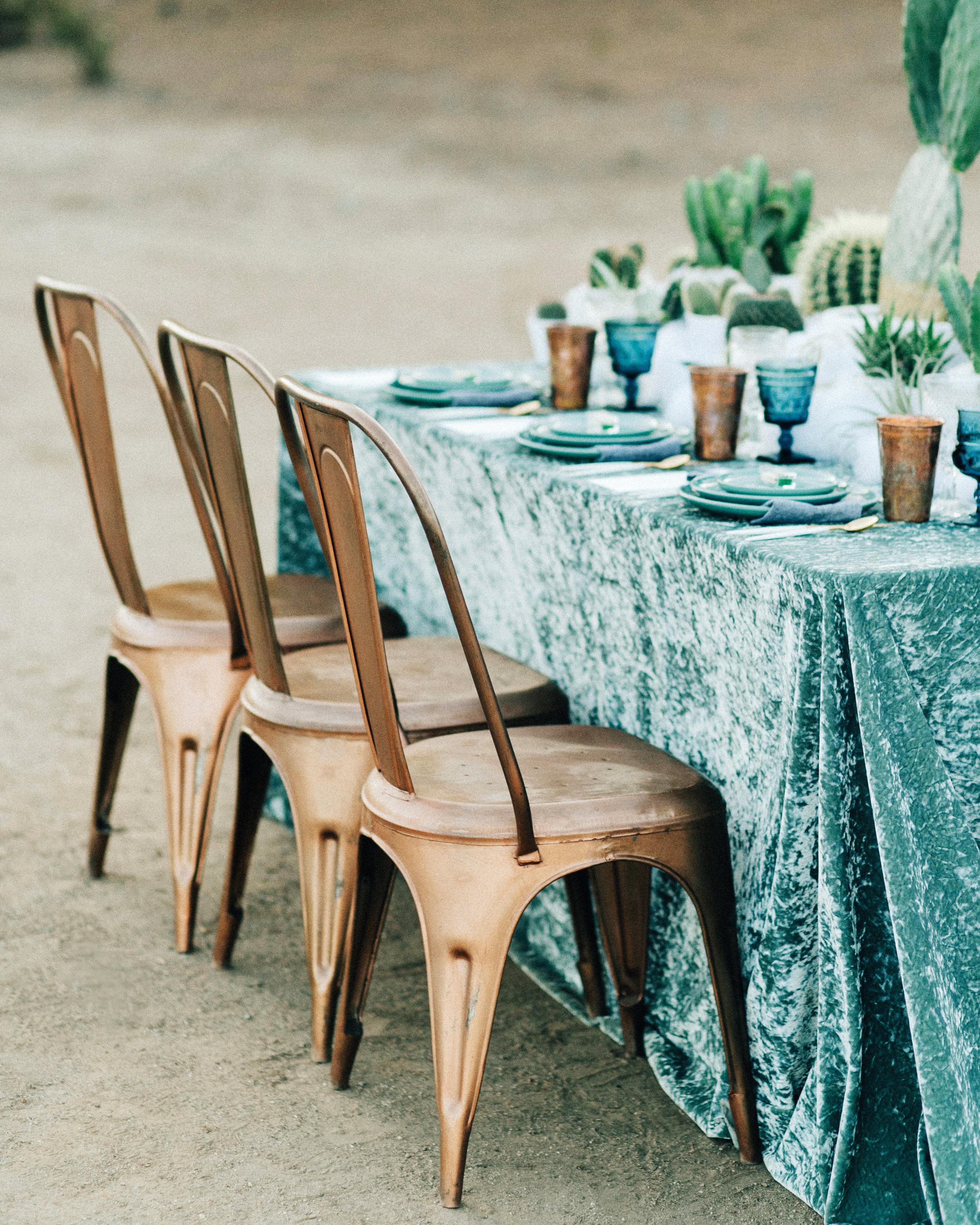 velvet reception table