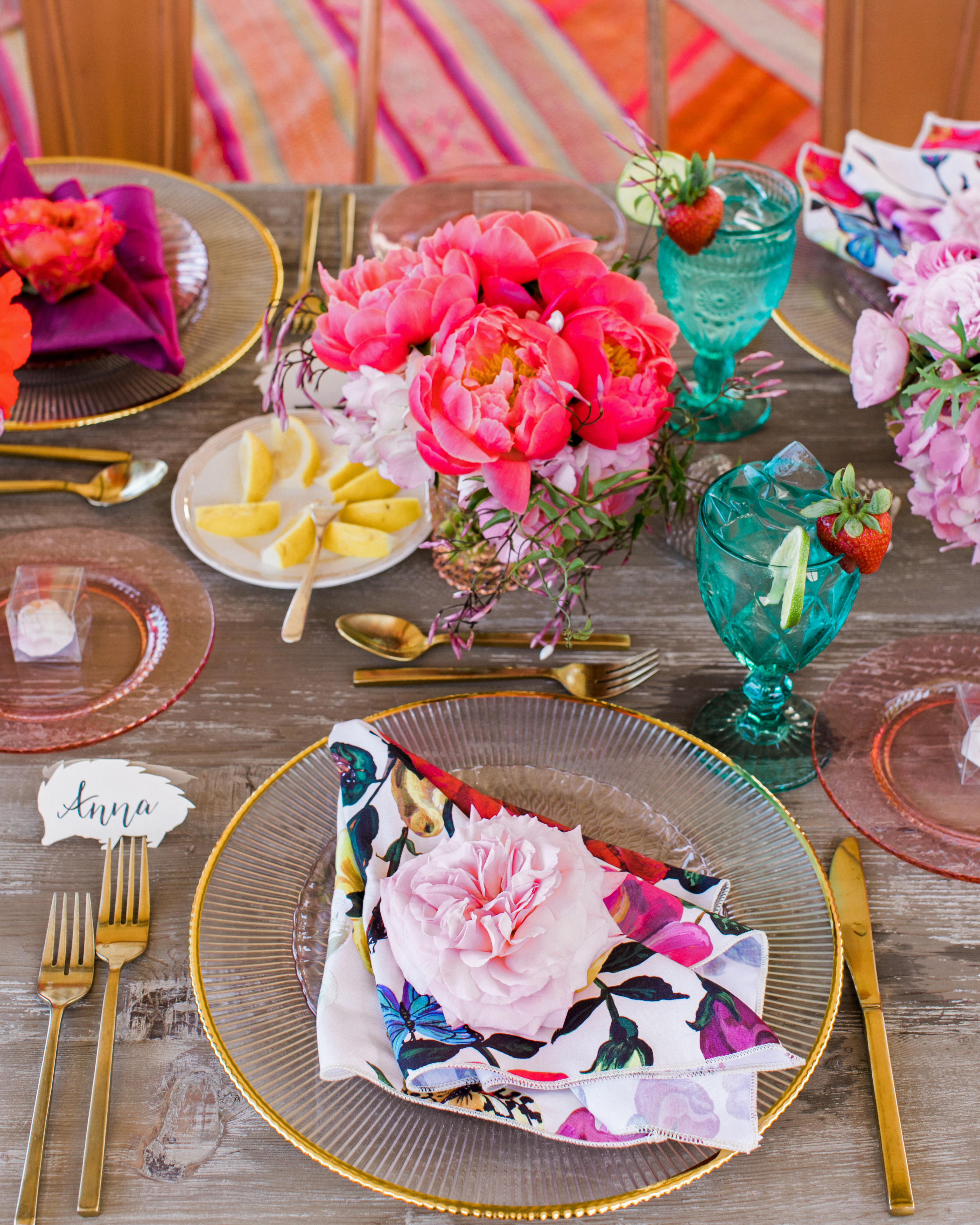 bloom buttery floral covered napkins