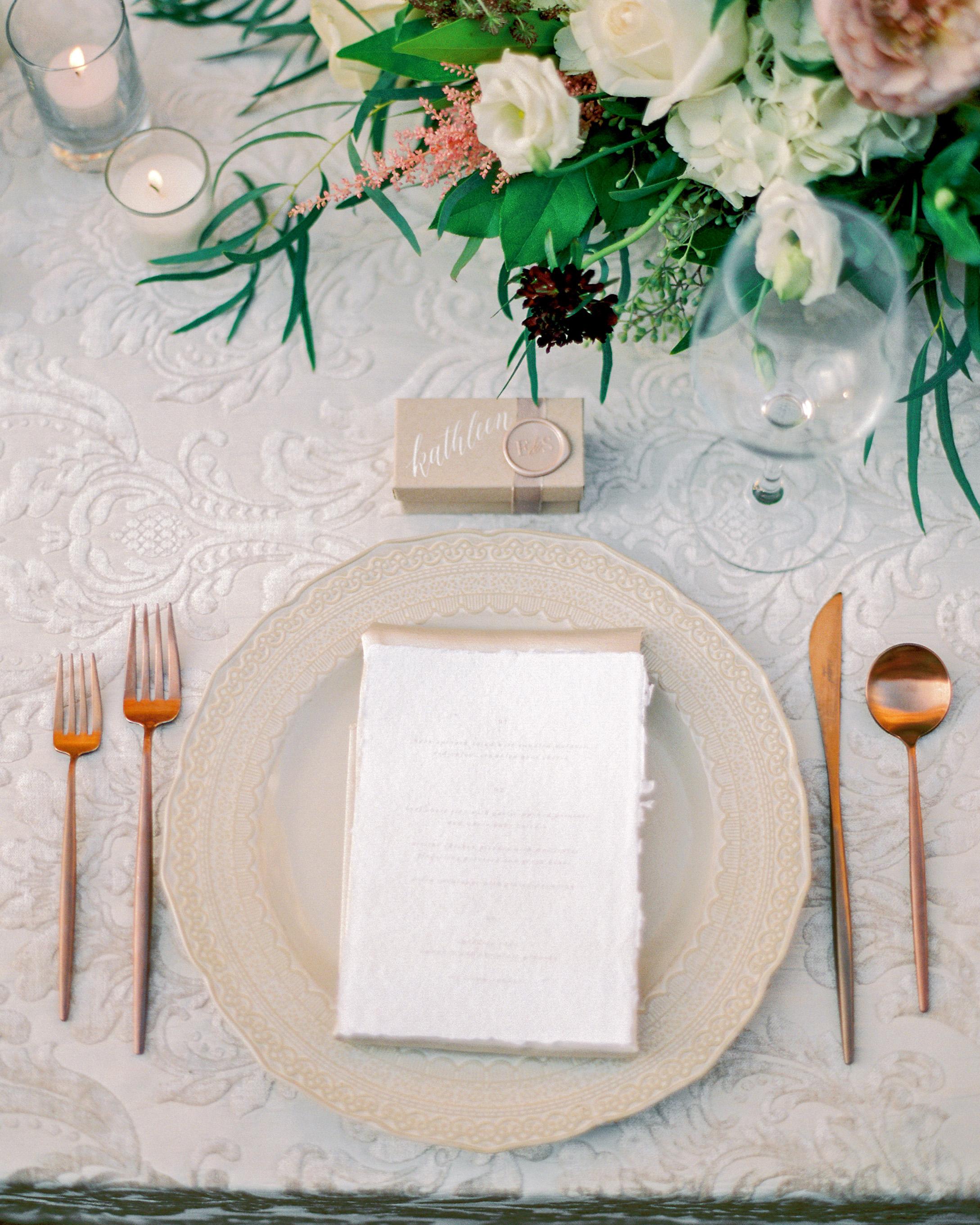 bas relief tablecloth neutral tablescape