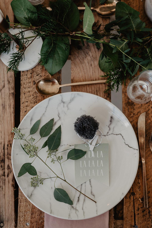 winter bridal shower shoot julia garcia prat marble plate