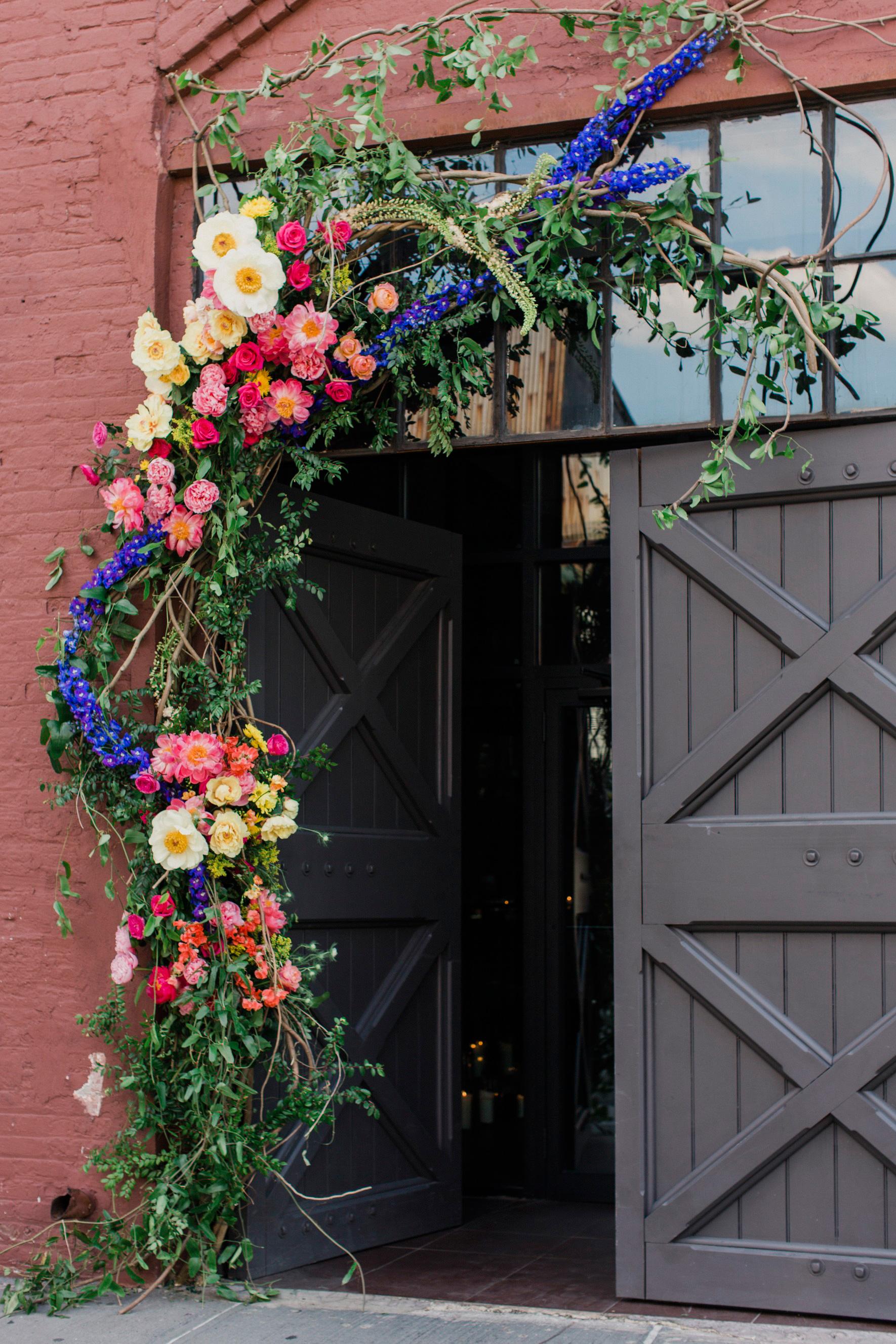 risa ross wedding brooklyn new york door flowers