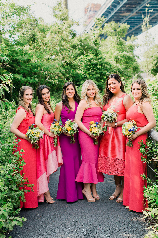 risa ross wedding brooklyn new york bridesmaids