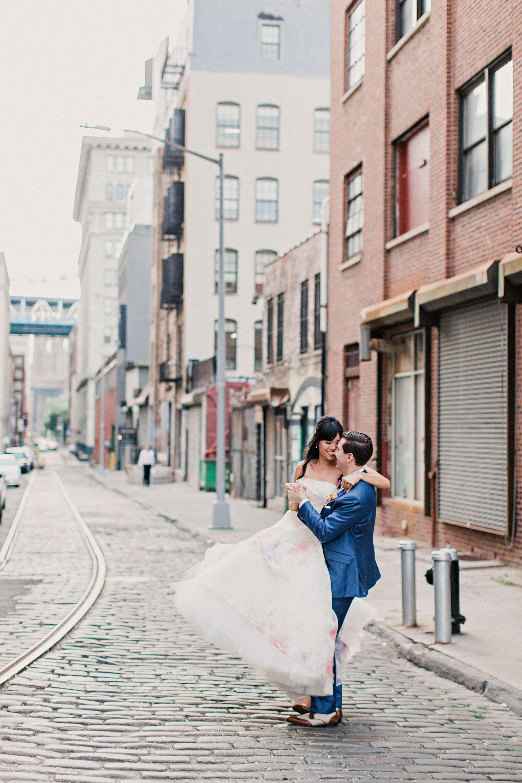 risa ross wedding brooklyn new york couple on street