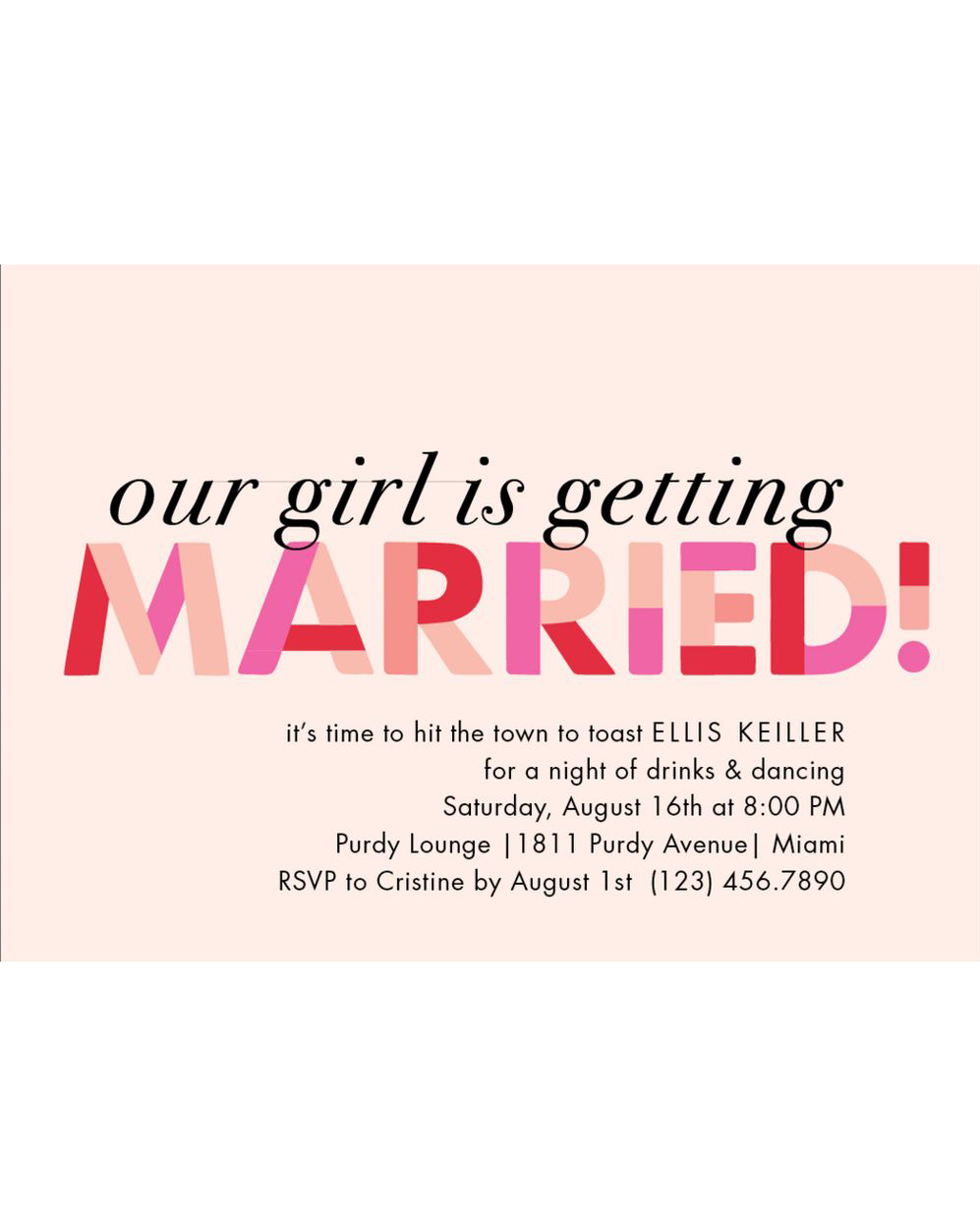 bachelorette party invites paper source our girl