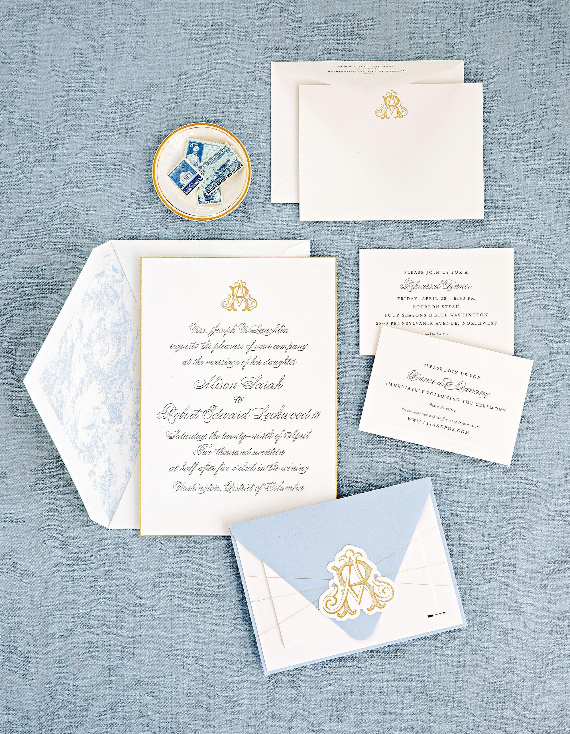 washington dc wedding stationery suite