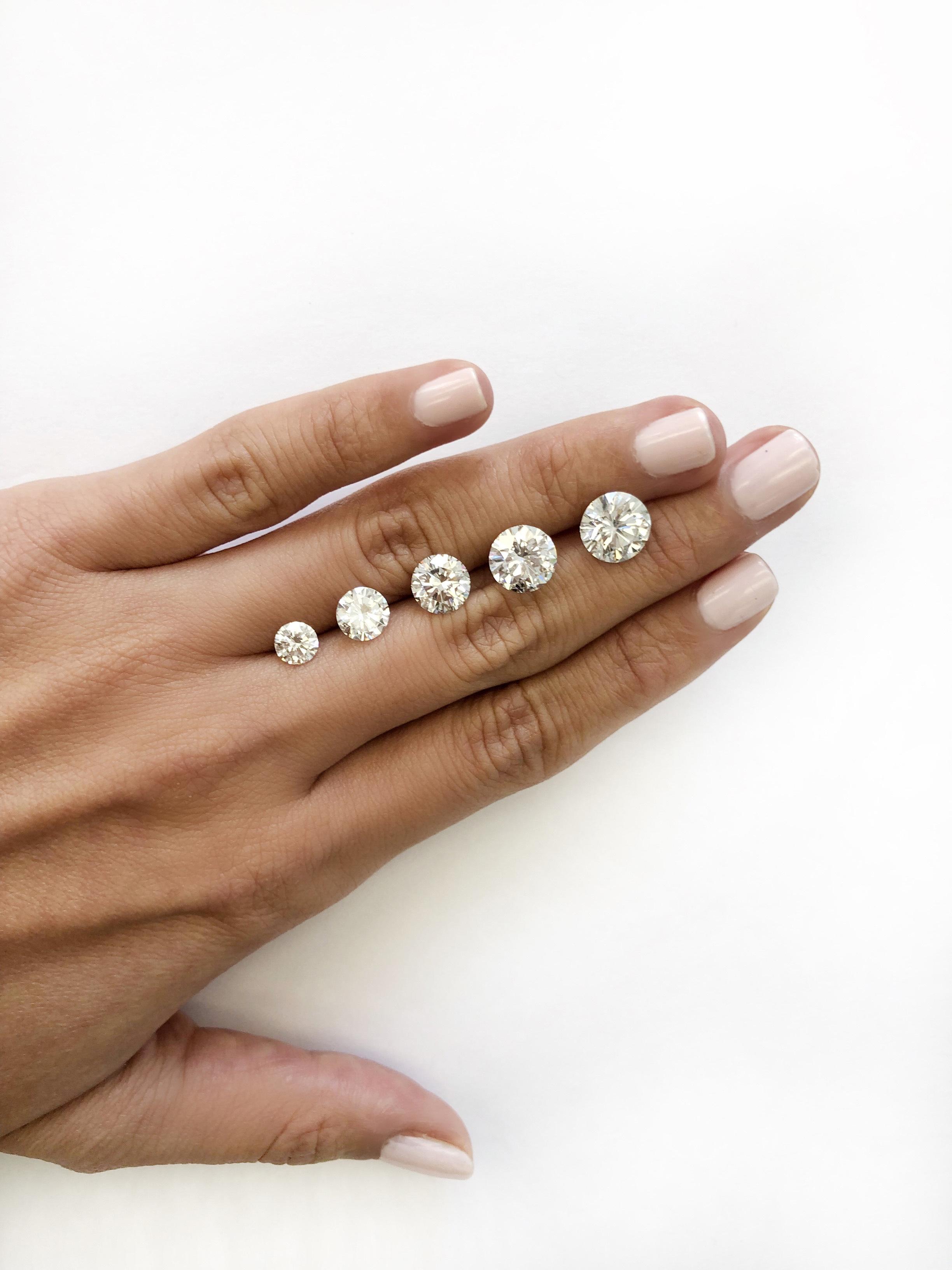 hand with diamonds