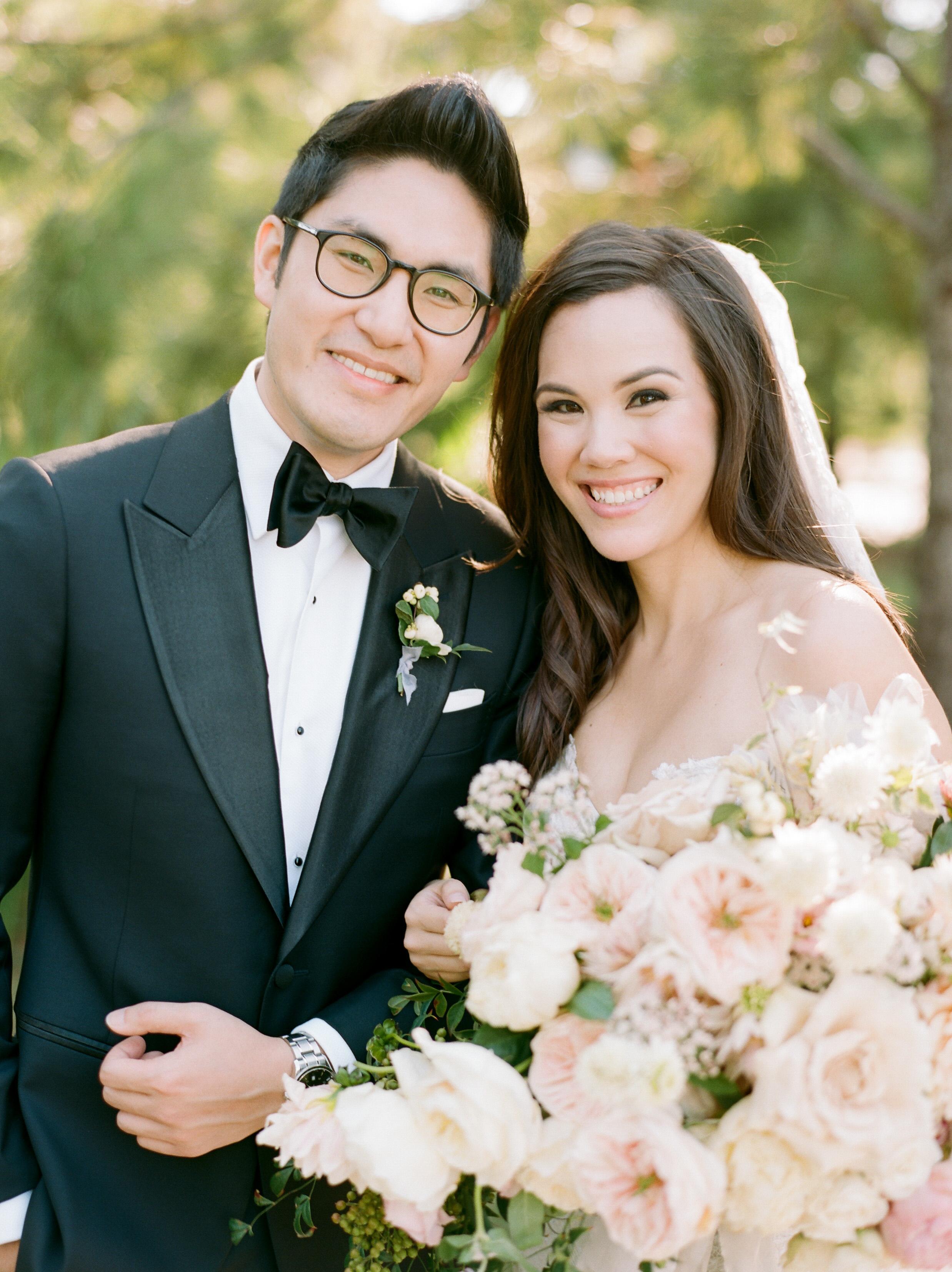 texas wedding couple smiling