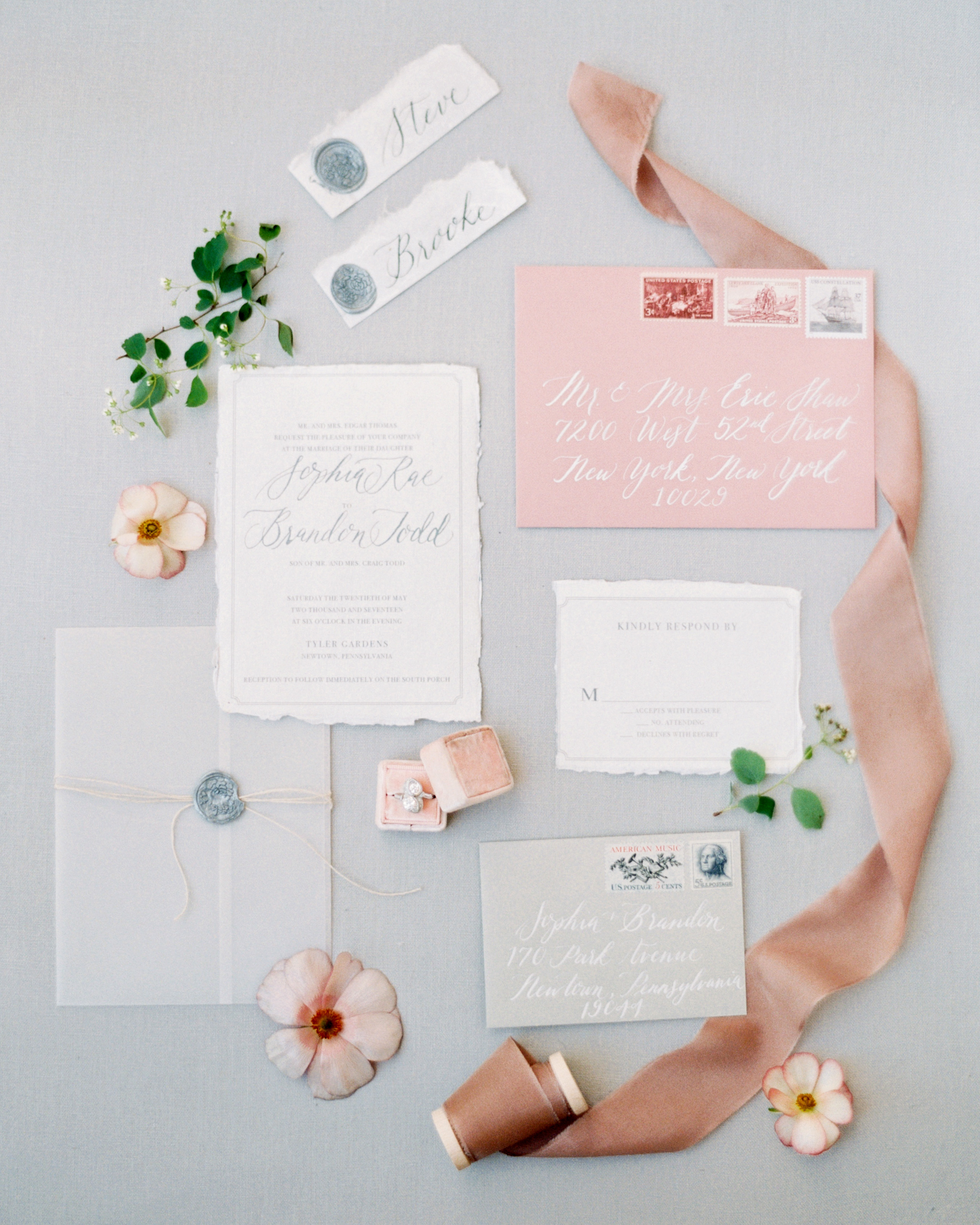 Gorgeous Wedding Invitations With Wax Seals Martha