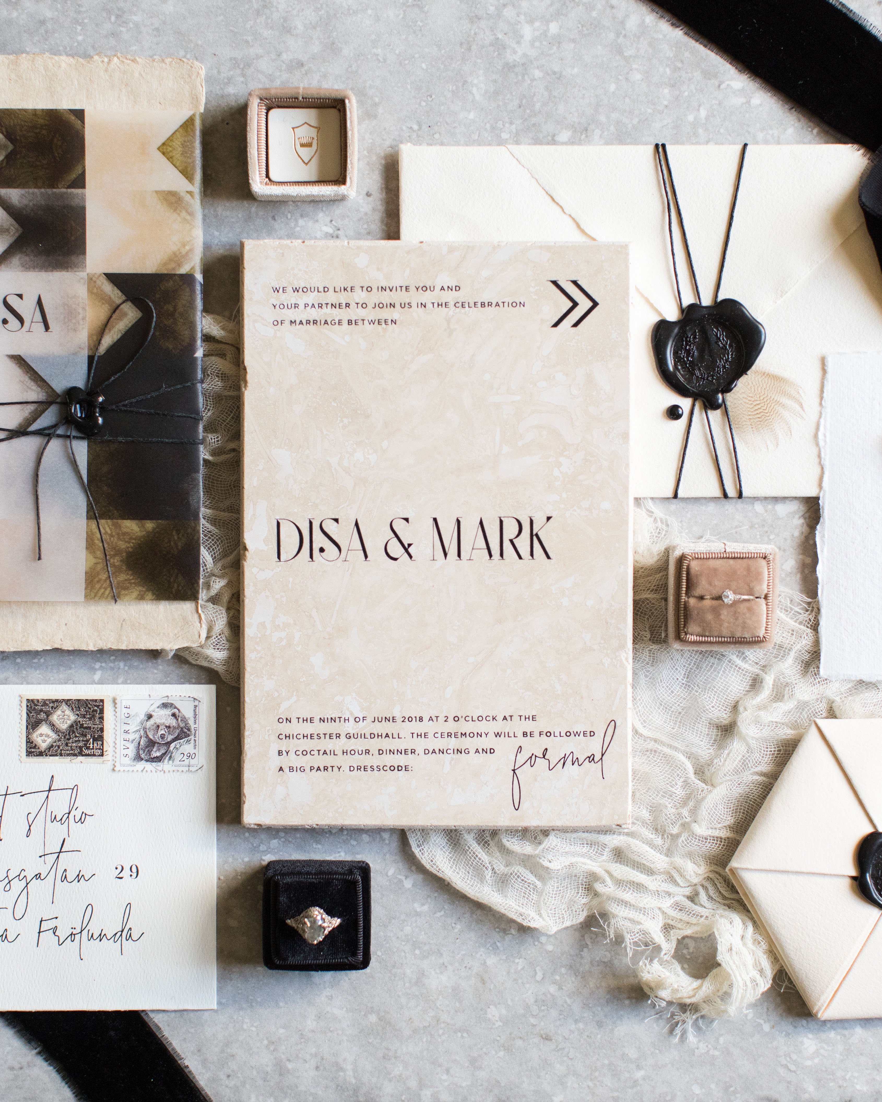 wax seal wedding invitations freeform wax seal