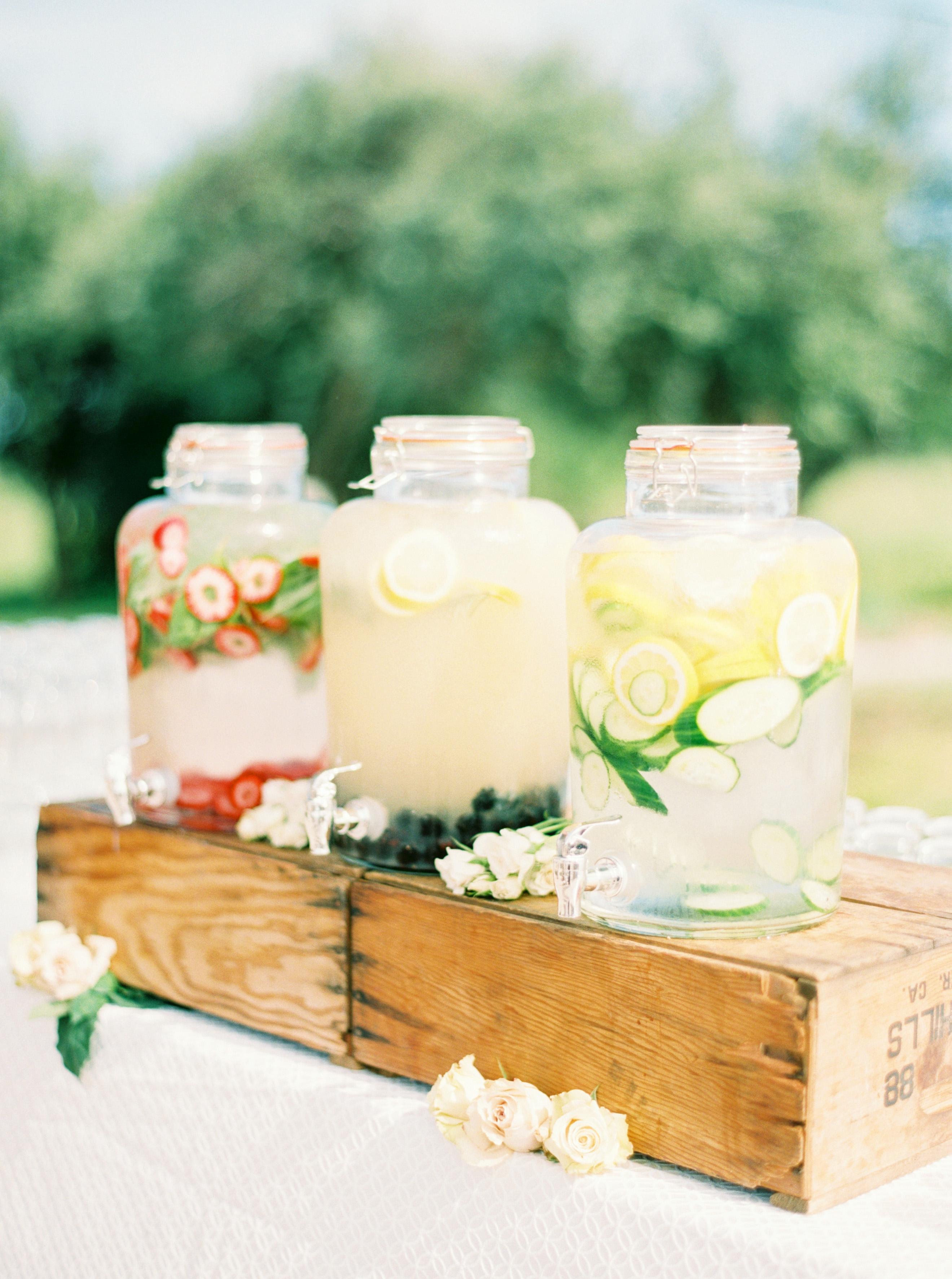 jars of flavored water