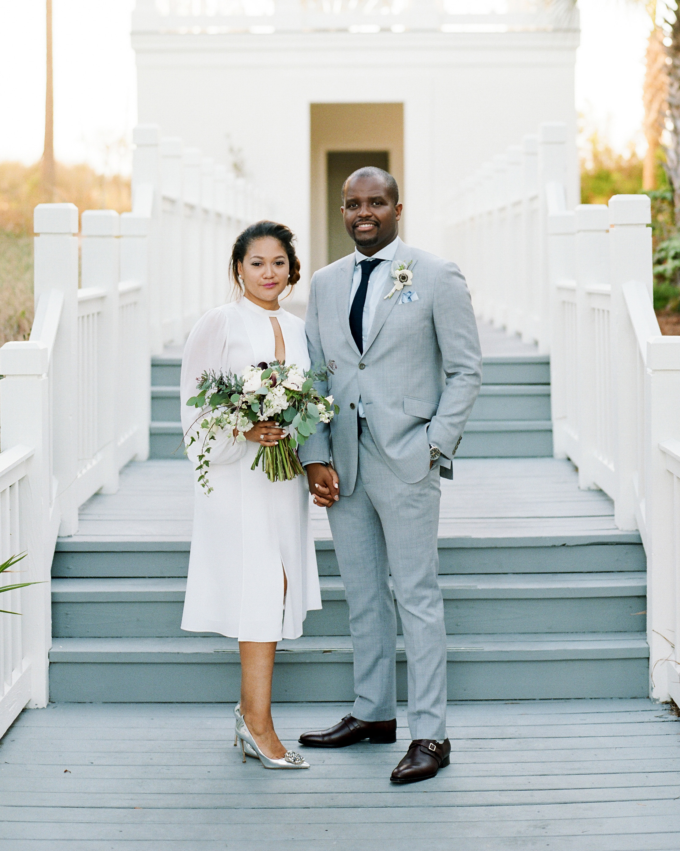 long sleeved wedding short dress