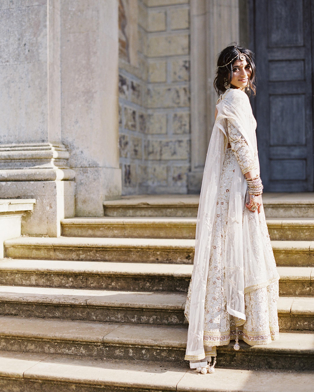 long sleeved wedding two piece dress