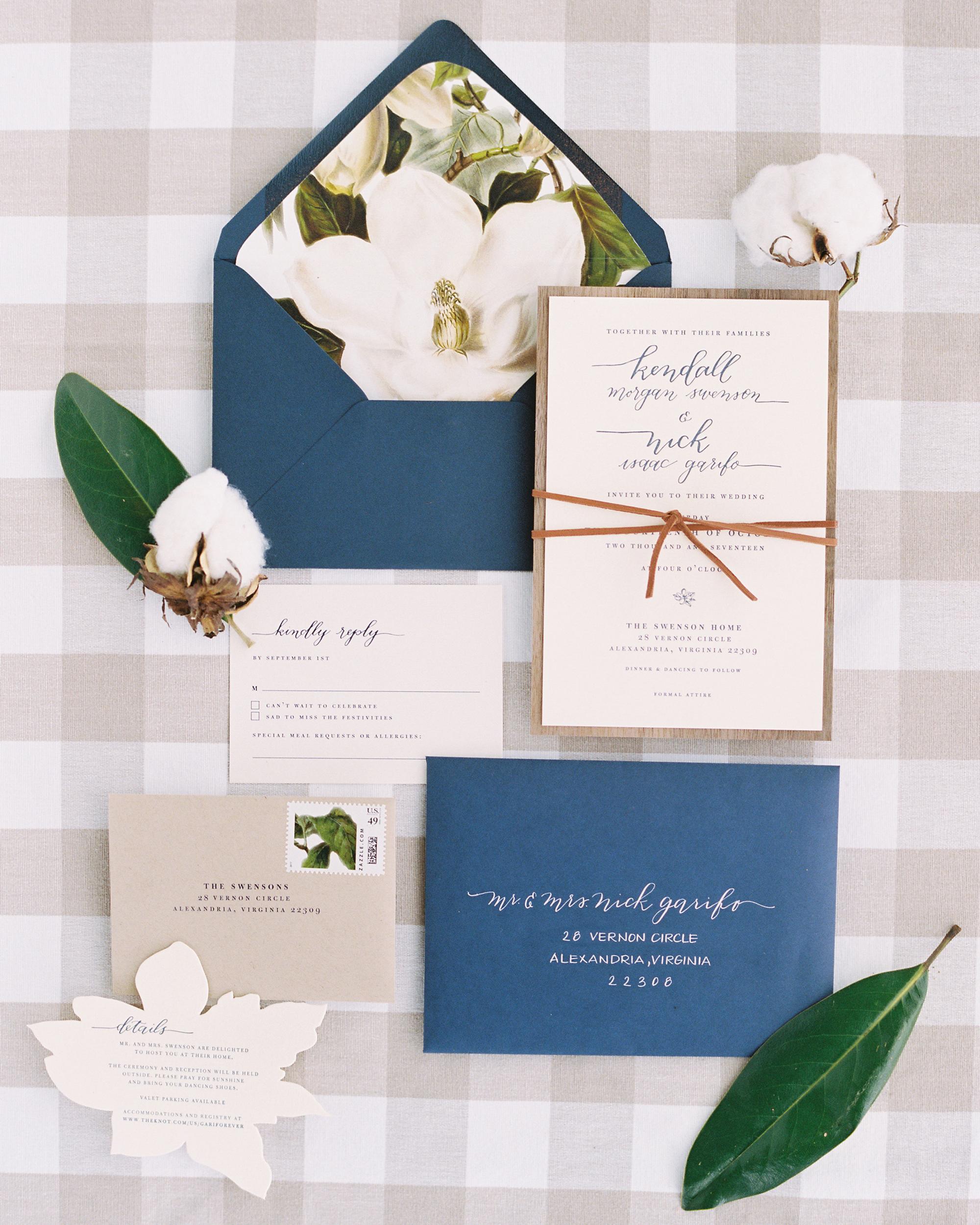 kendall nick wedding invitation