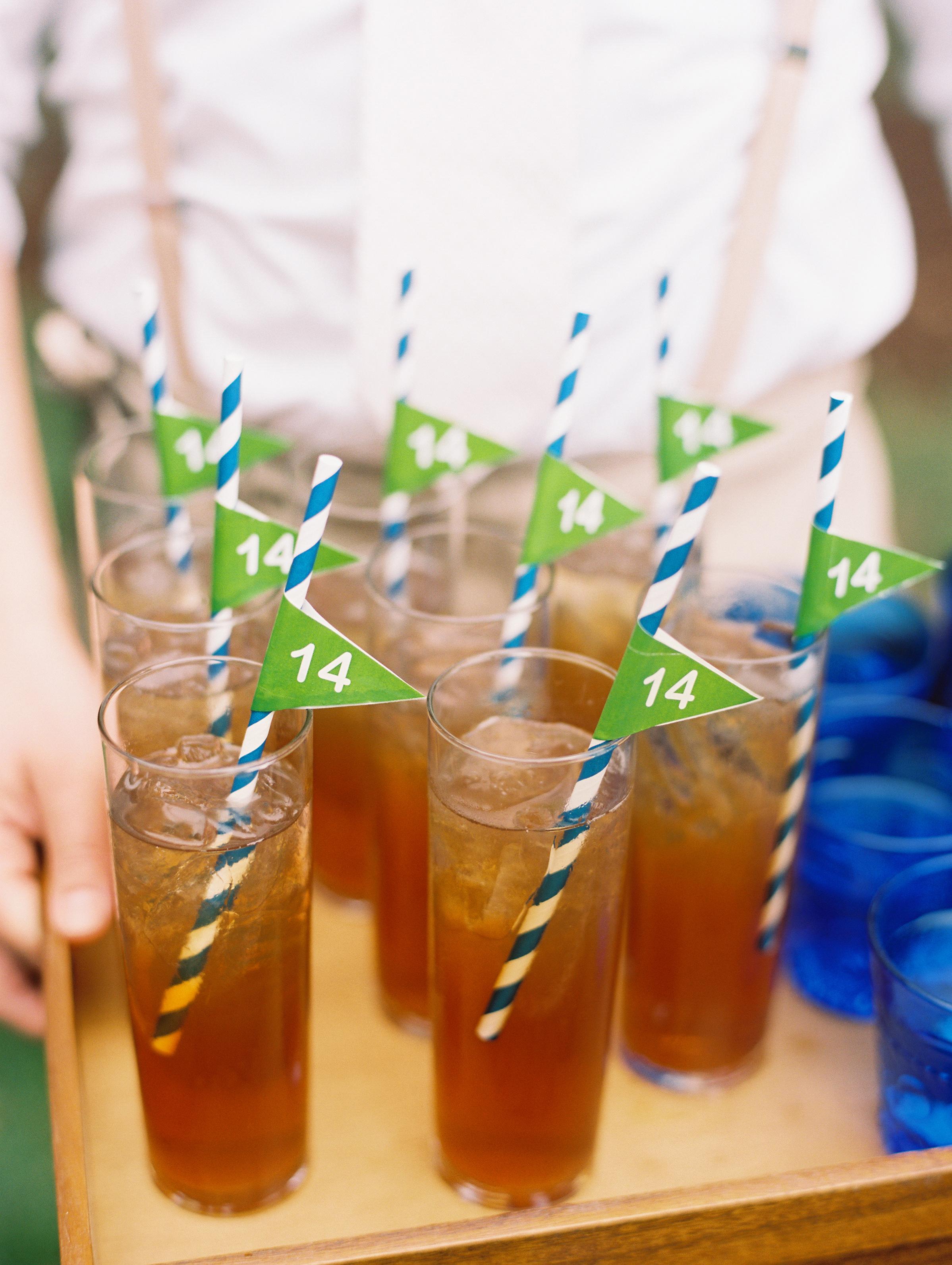 kendall nick wedding drinks with straws