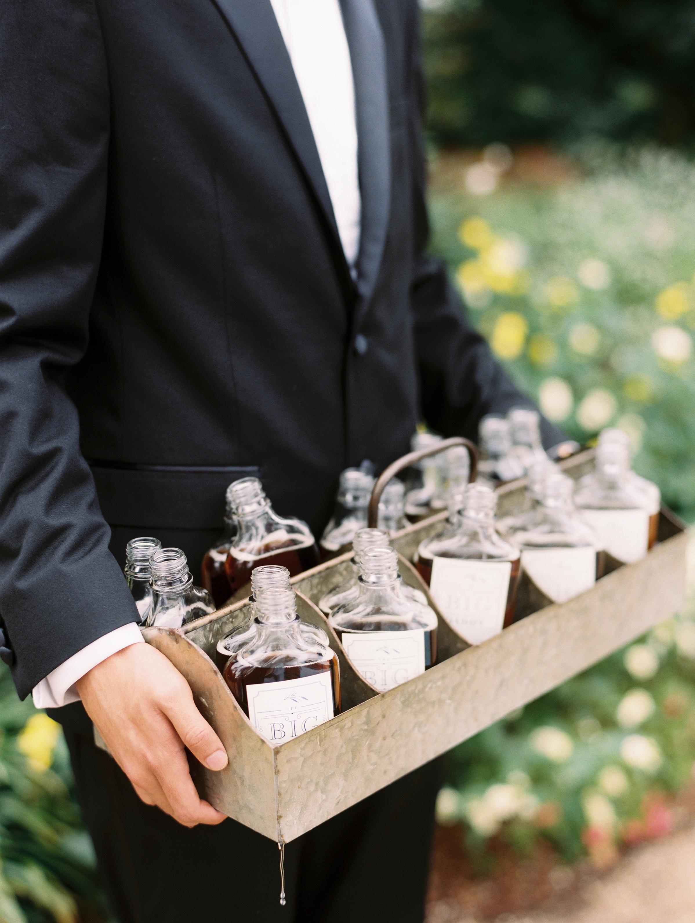 kendall nick wedding bottled drink