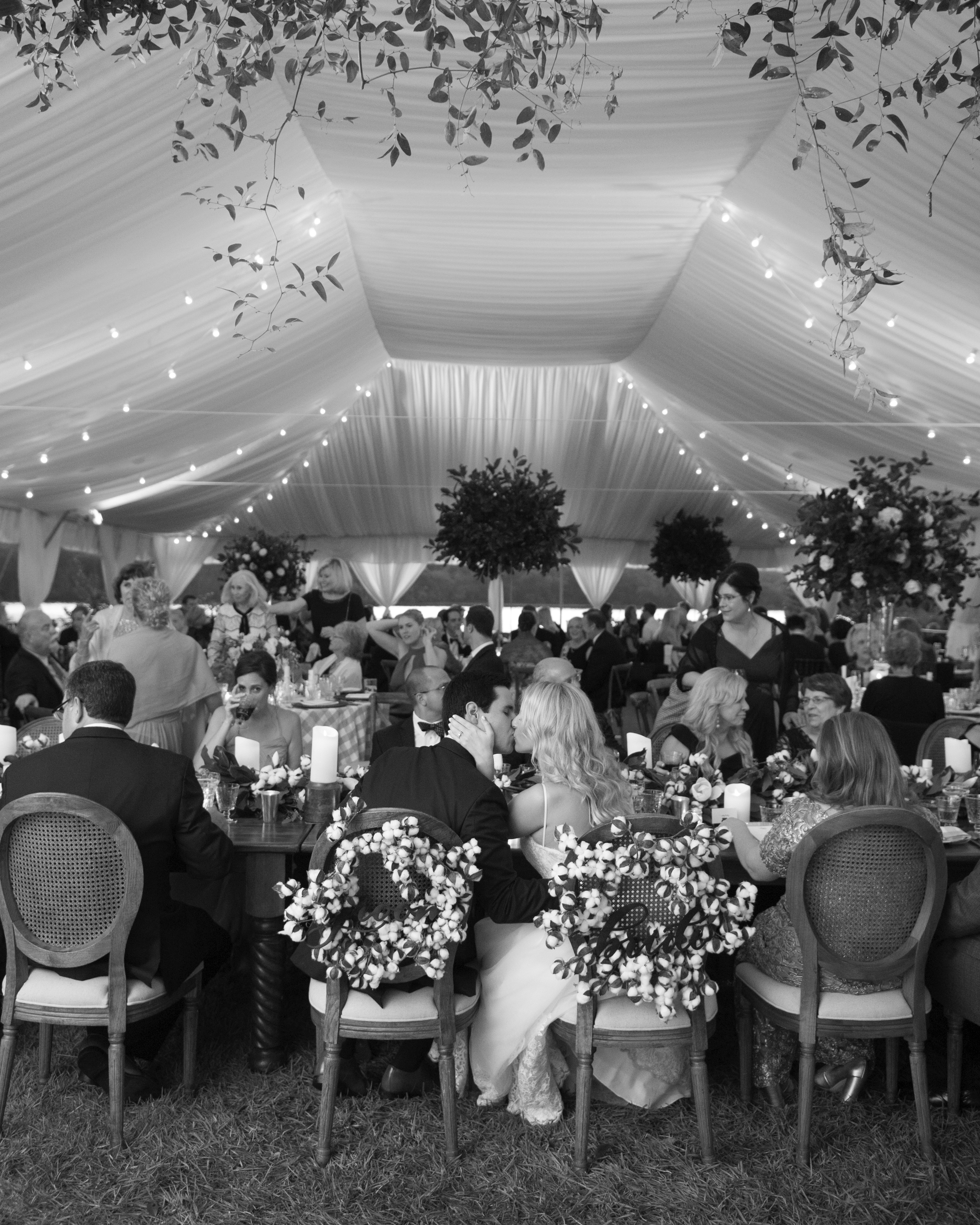 kendall nick wedding reception kiss